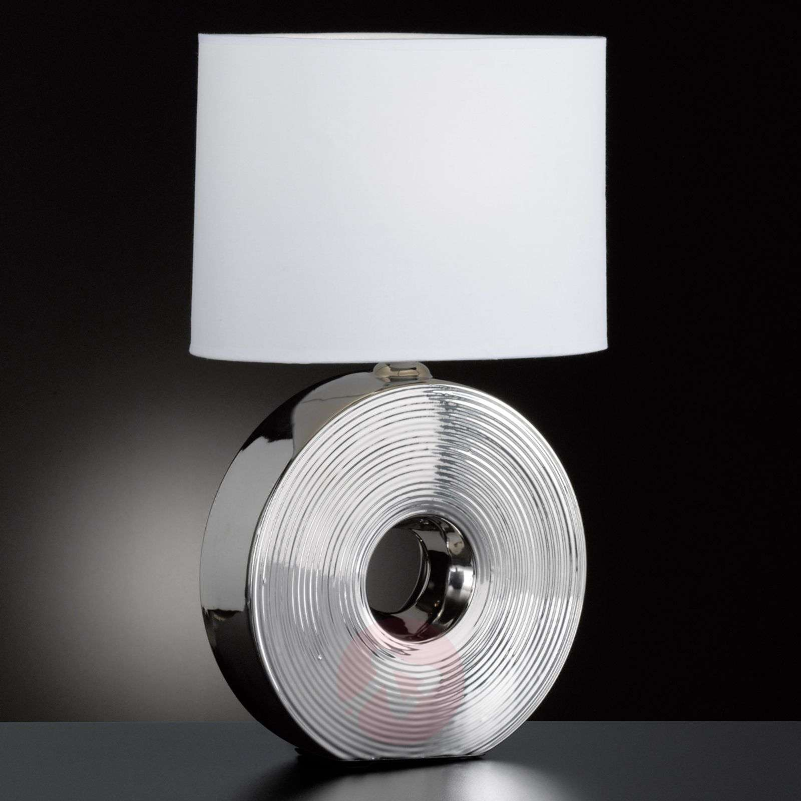 Height 54 cm Eye table light with silver base-4581286-01