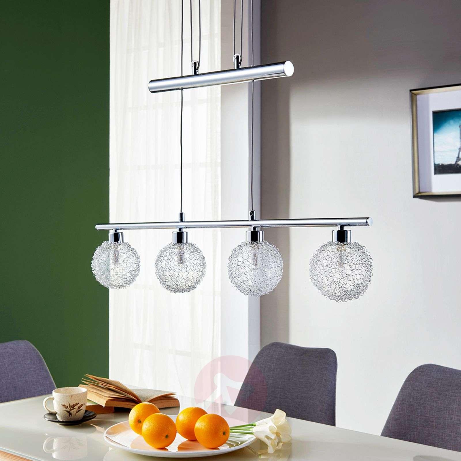Height Adjustable Led Linear Pendant Lamp Ticino Lights Ie