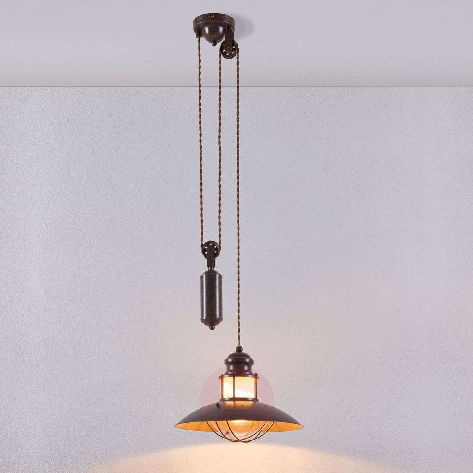 Height-adjustable Louisanne pendant light-9621018-02