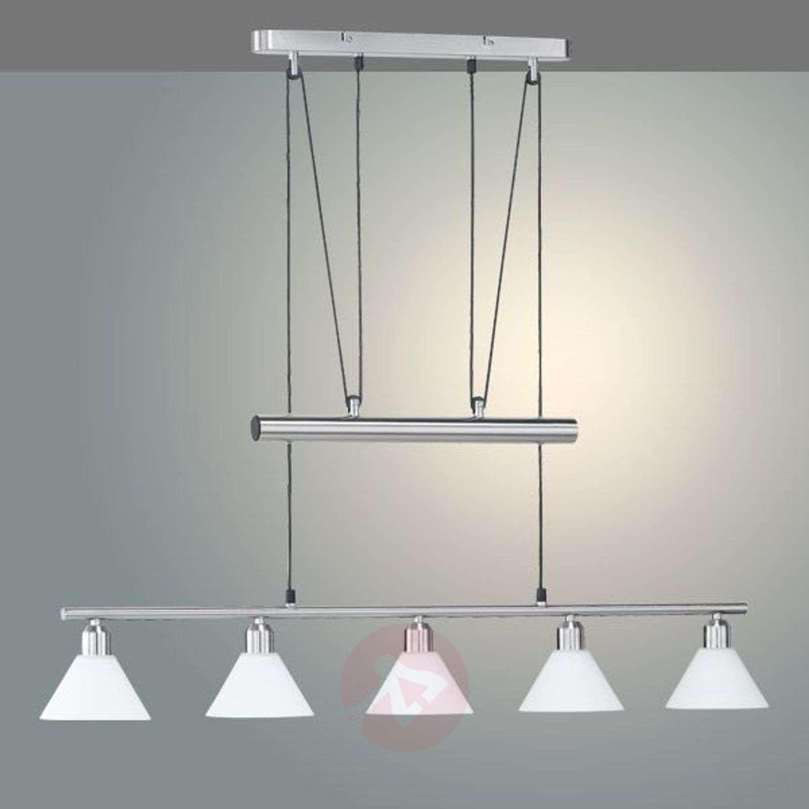 Height-adjustable pendant light, multiple bulbs-9003734X-01