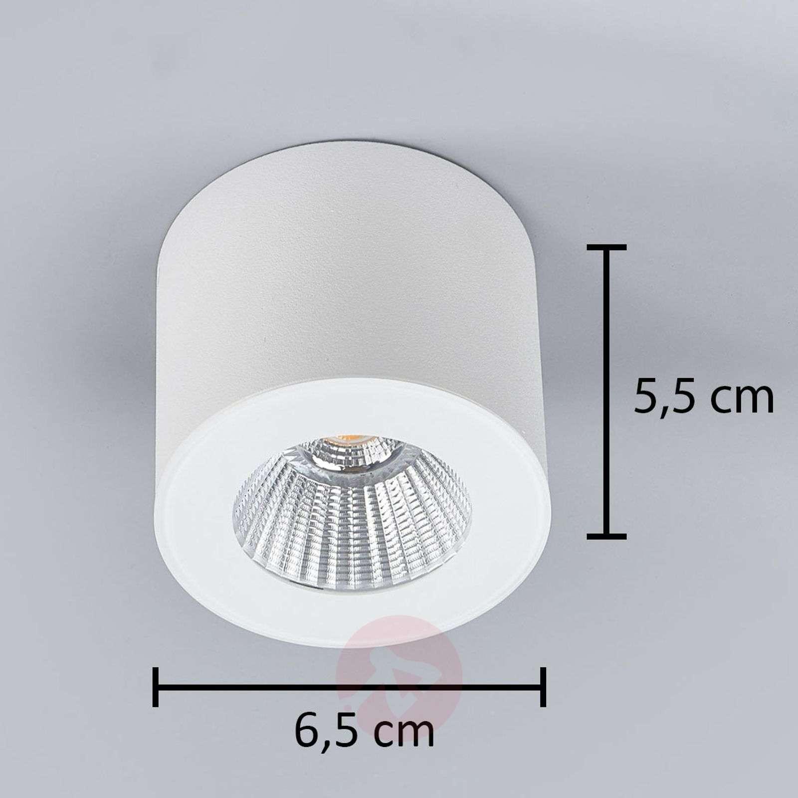 Helestra Oso LED ceiling spot, round, matt white-4516442-08