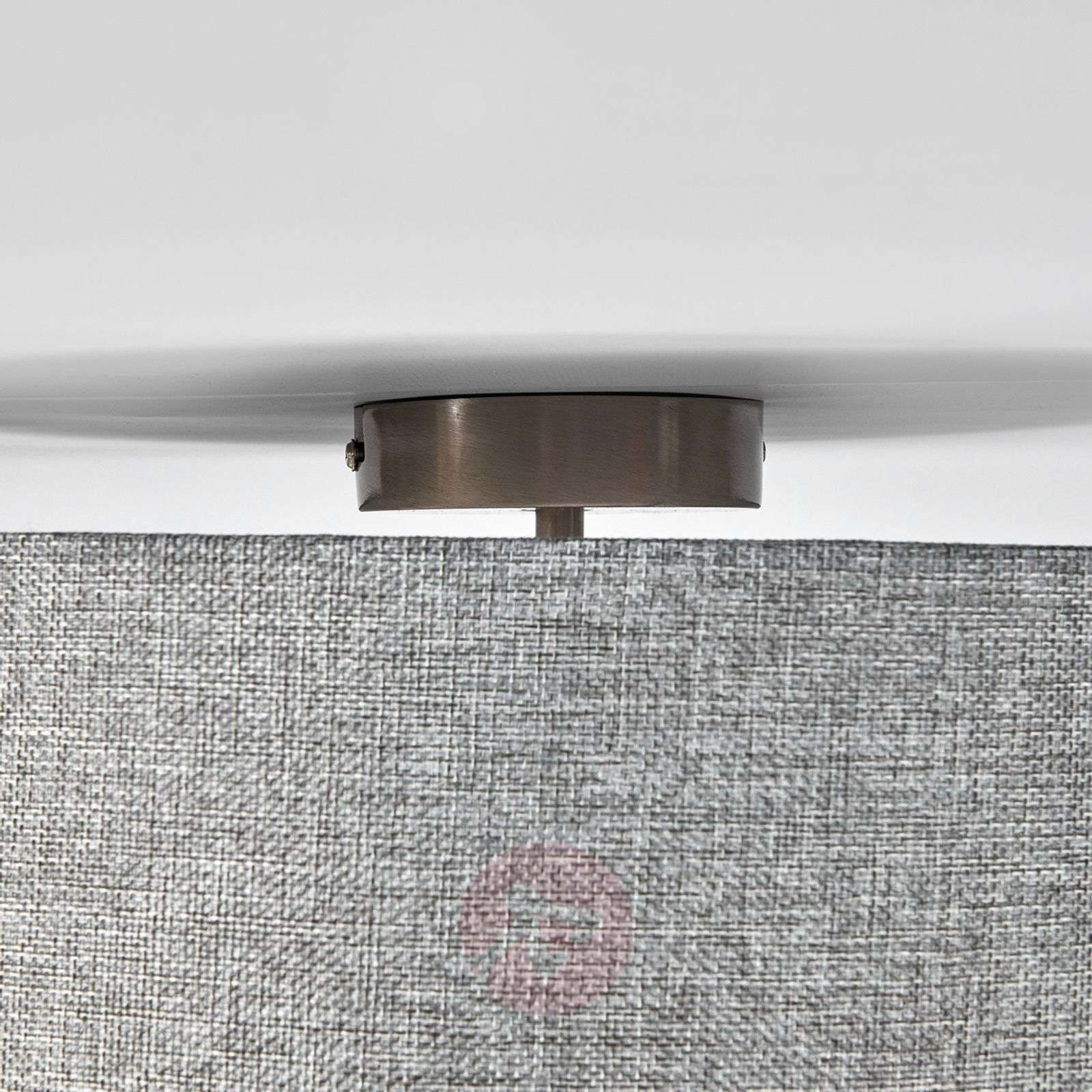 Henrika ceiling light made from grey fabric-4018018-08
