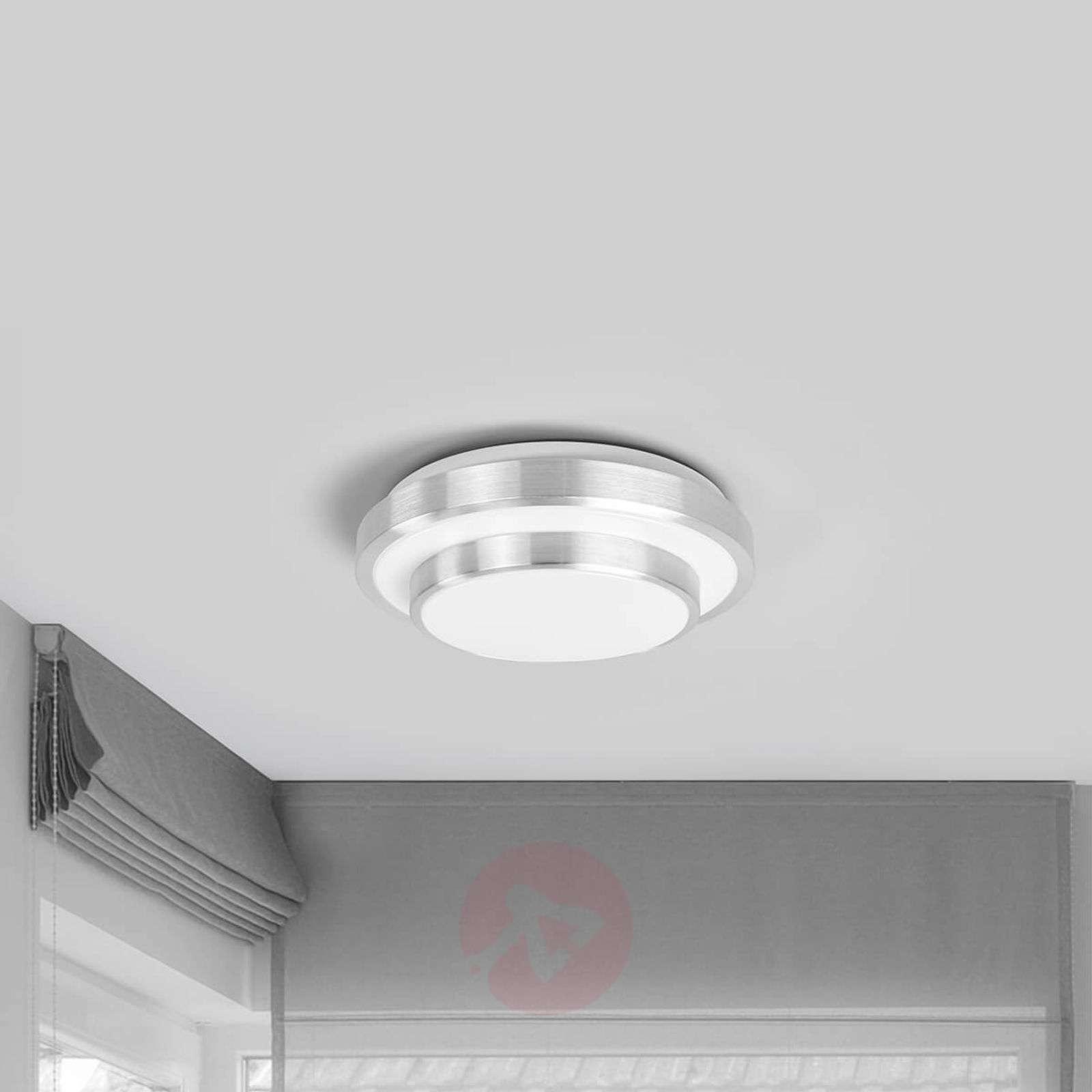 Huberta - round LED ceiling lamp, aluminium frame | Lights.ie