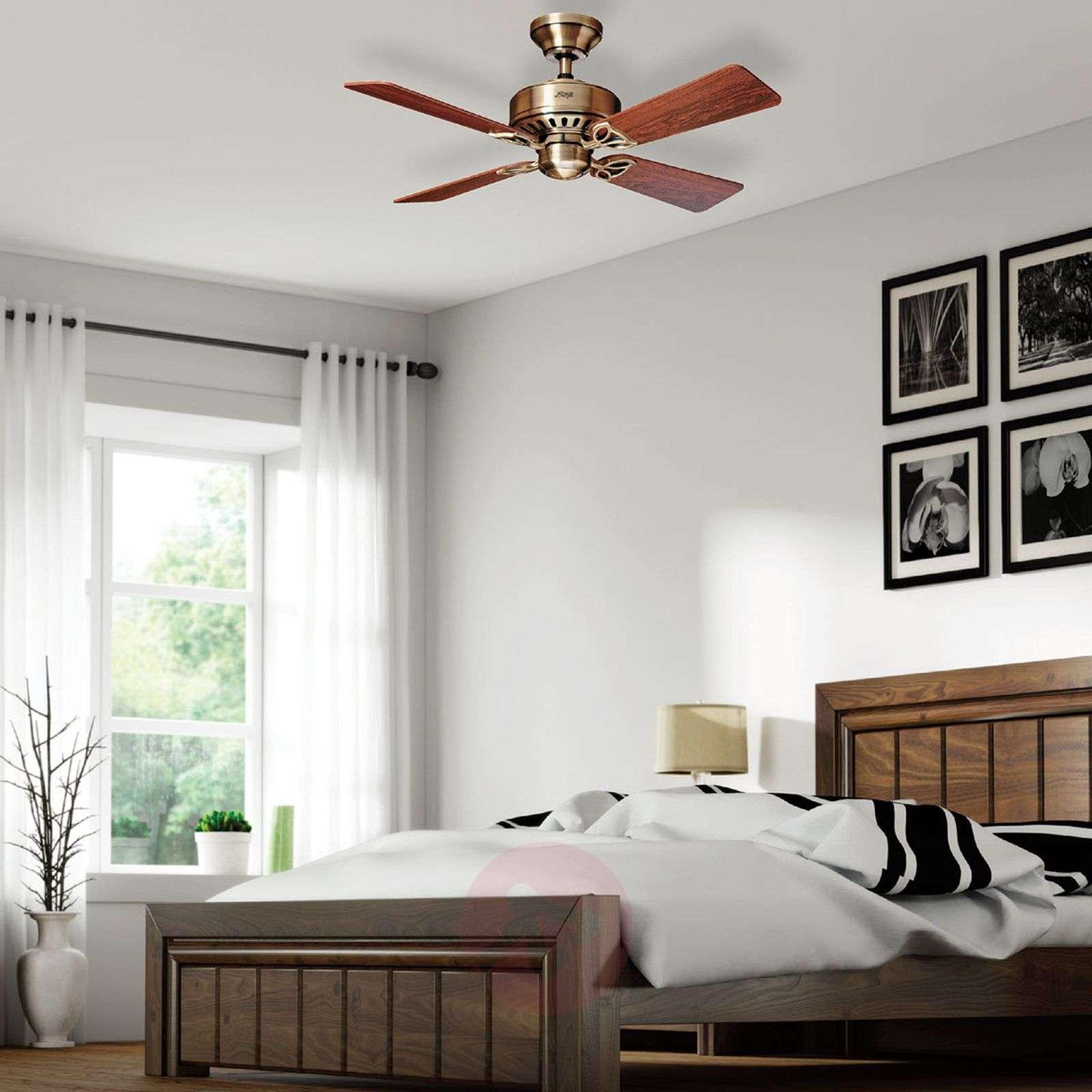 Hunter Bayport ceiling fan, rosewood/oak-4545002-01