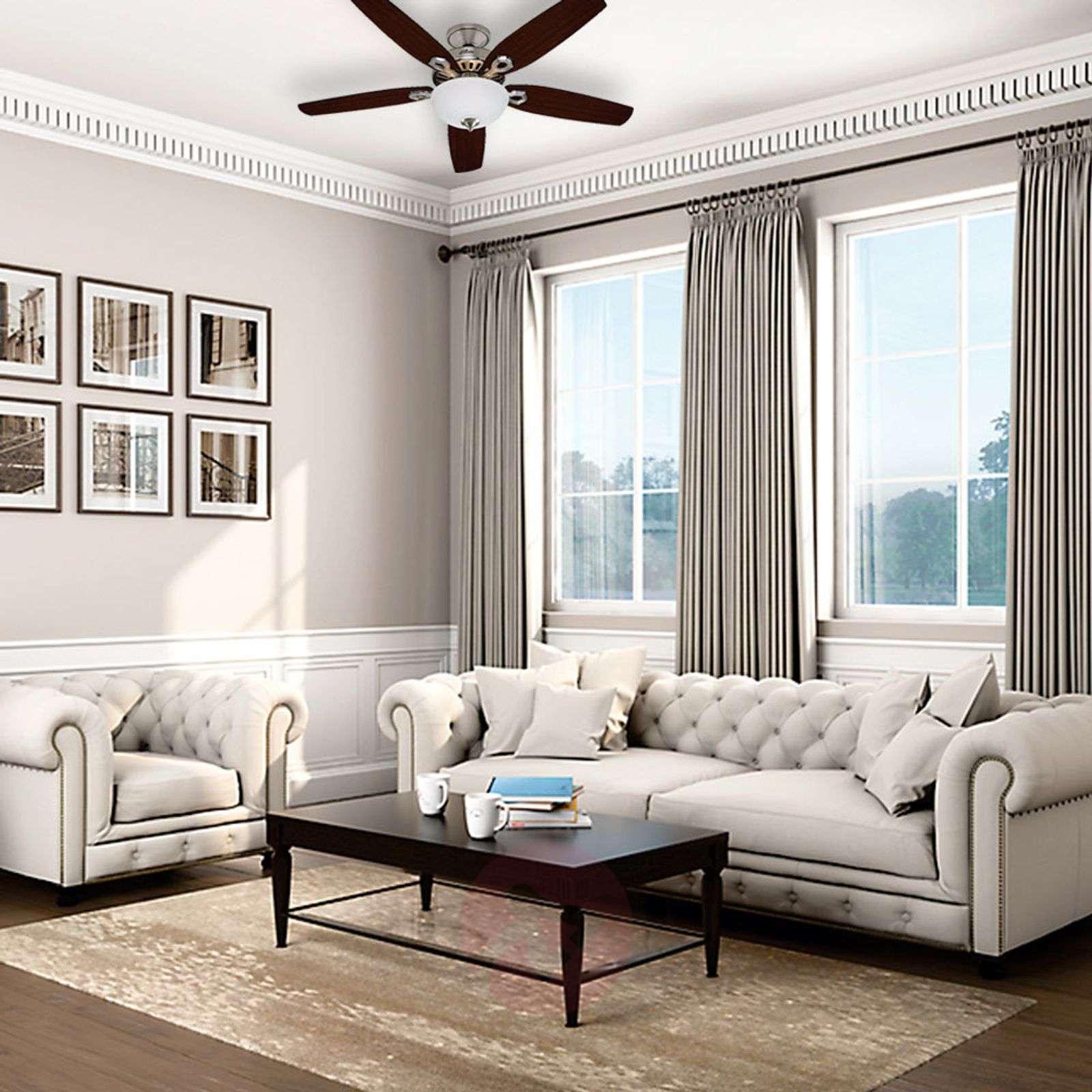 Hunter Builder Deluxe ceiling fan, chrome-4545008-01