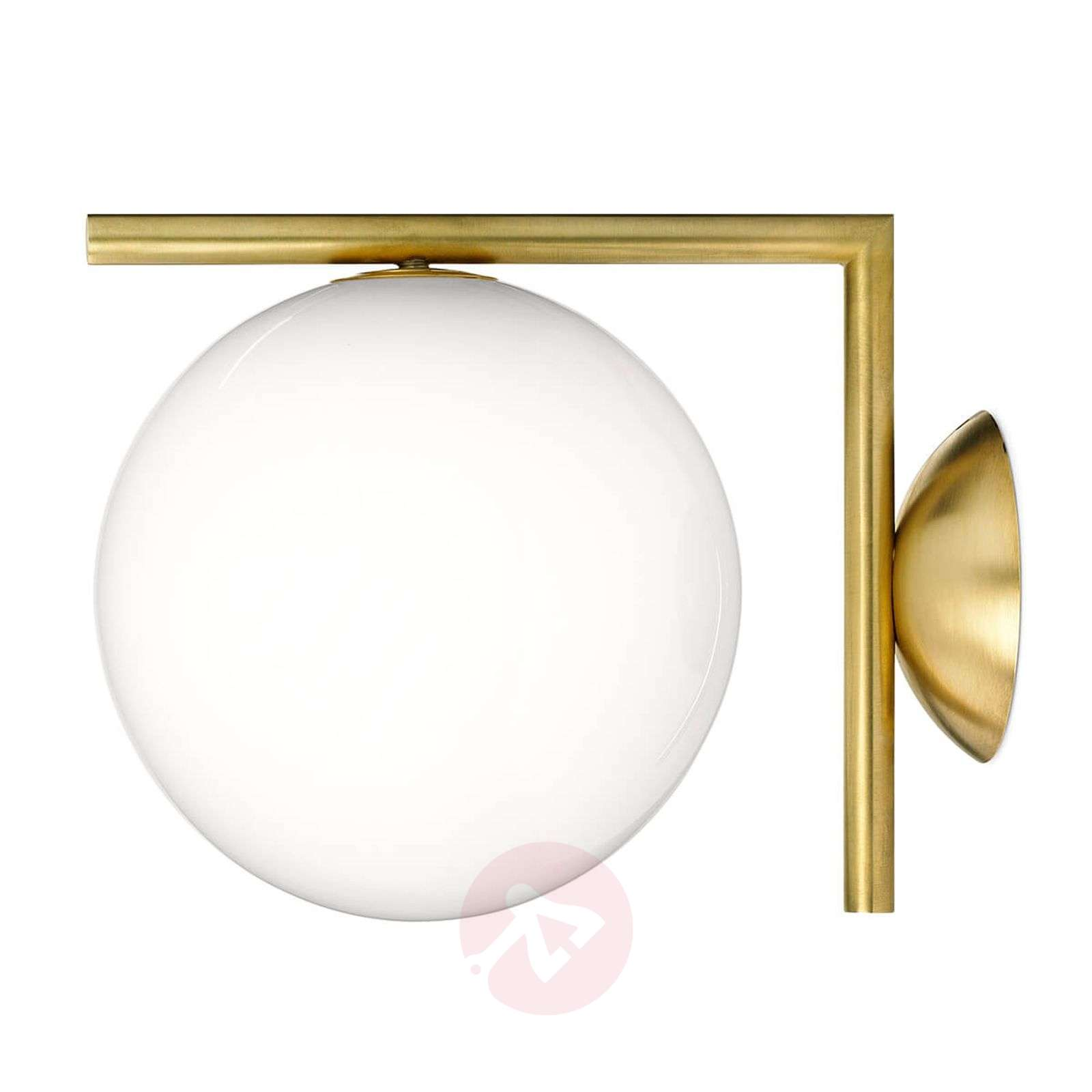 IC C/W1 Wall Lamp by FLOS, Brushed Brass-3510301-05