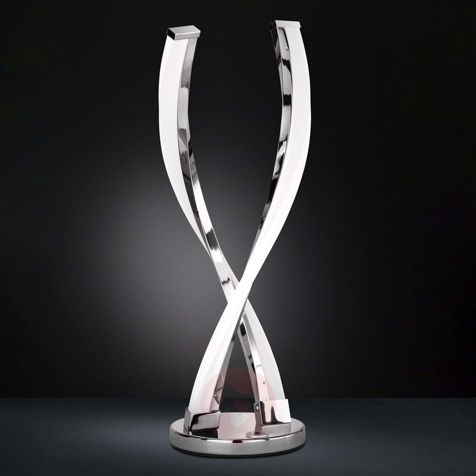 Idana glossy chrome LED table lamp-9652036-01