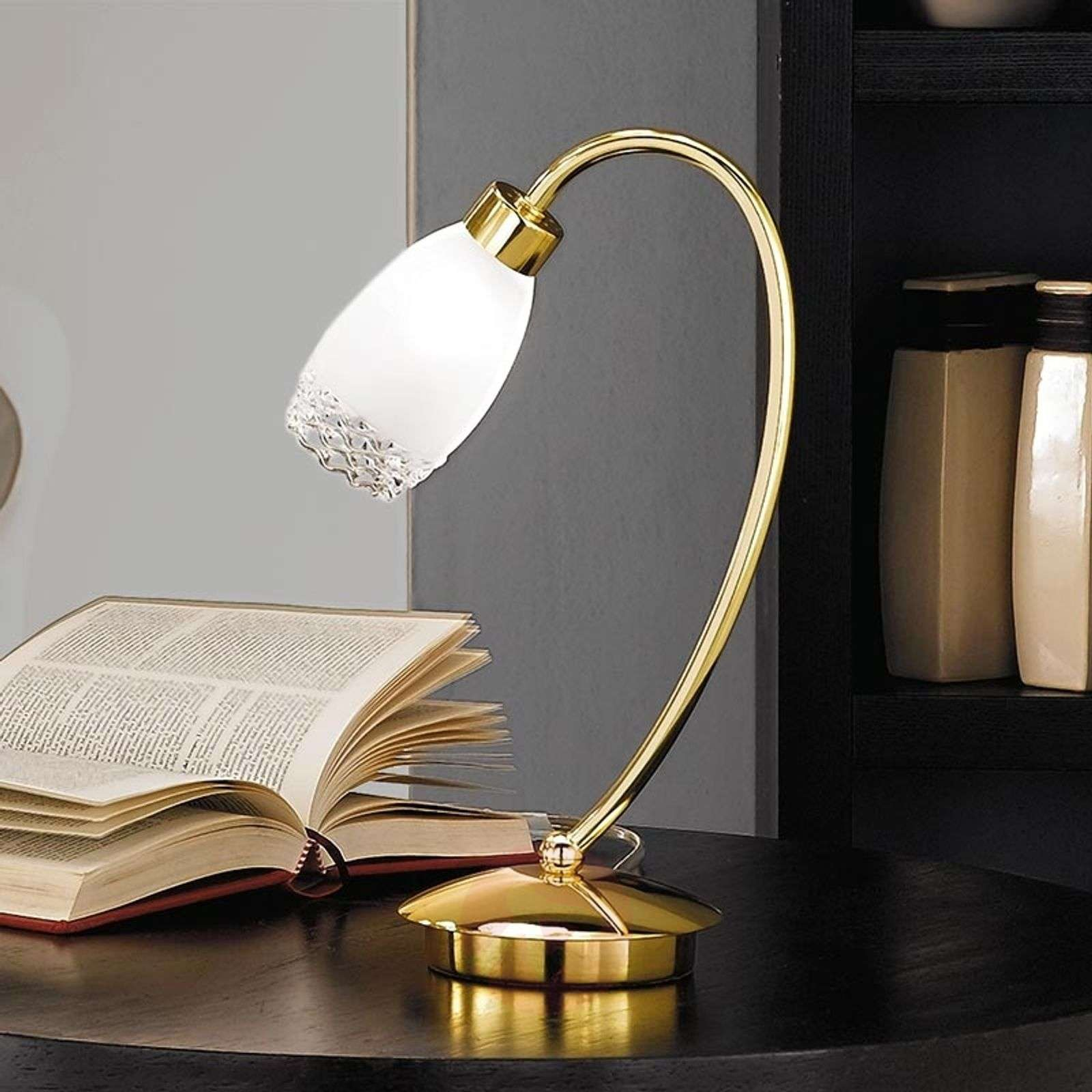 Ilena Brass Table Light with Glass Shade-7254637-01