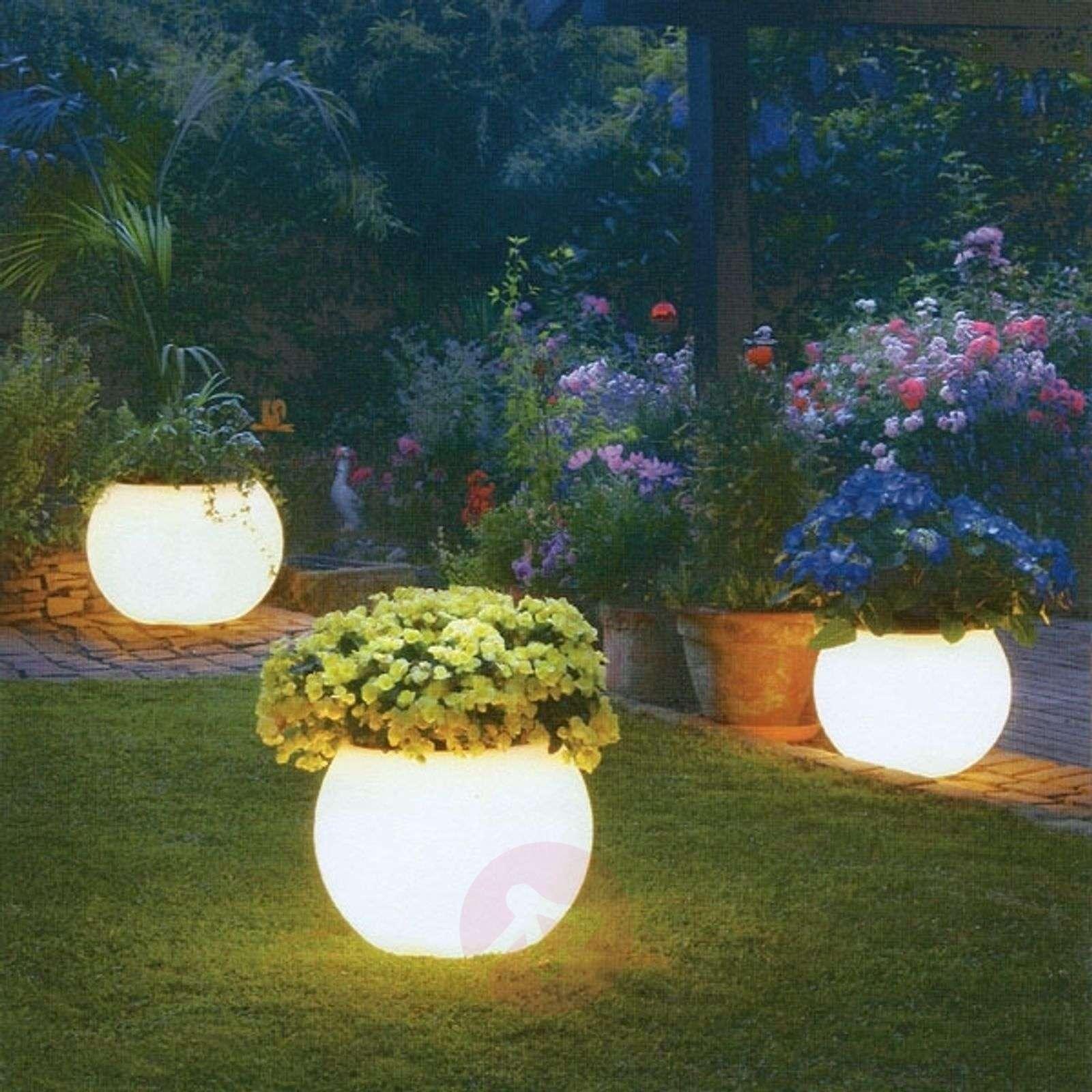 Illuminated planter, highest quality, white-3050006X-01