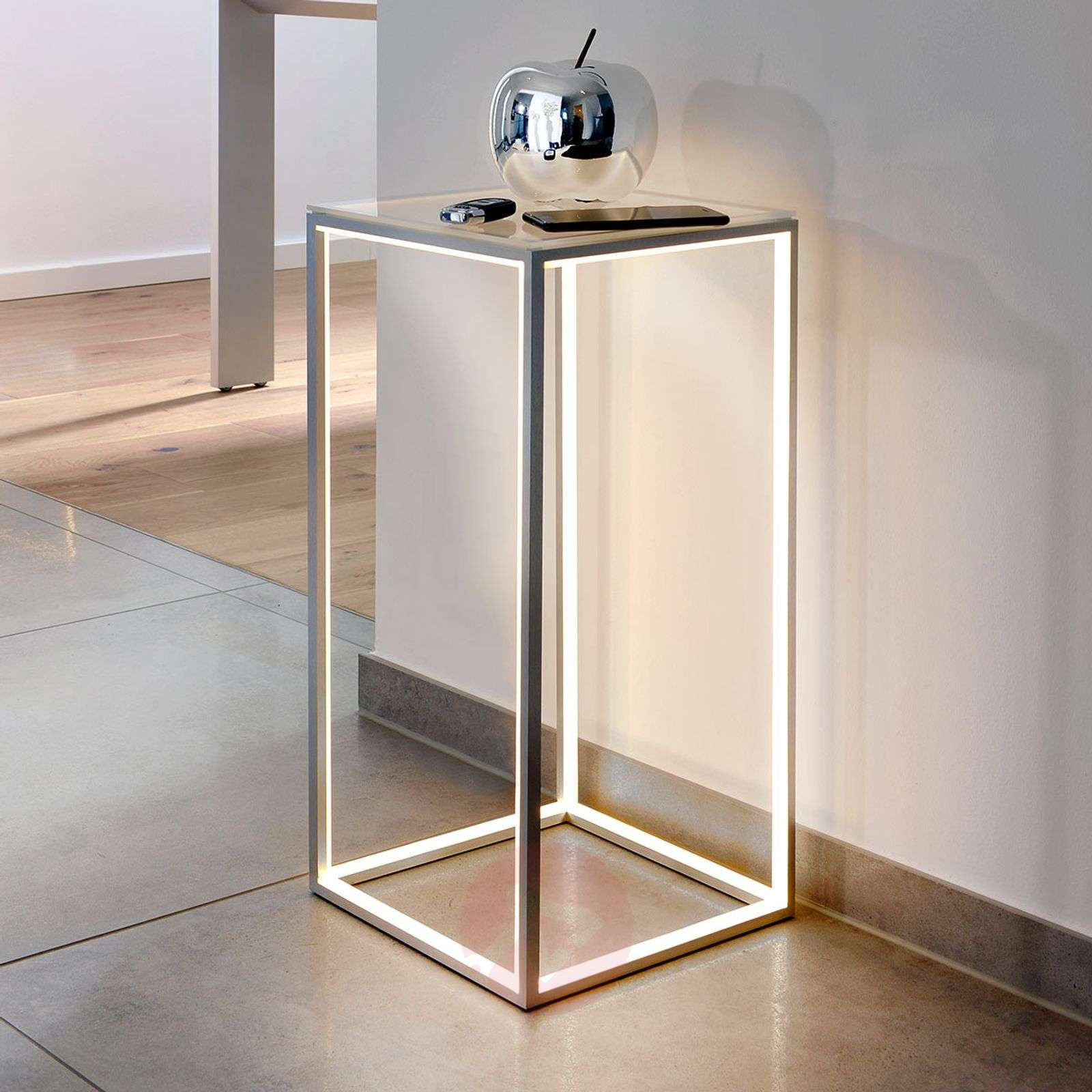 Illuminated side table Delux 60 cm high-8507645-01