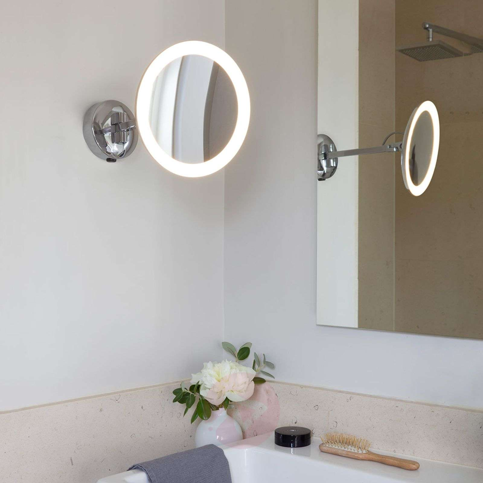 Illuminated wall mirror Mascali with LED-1020532-05