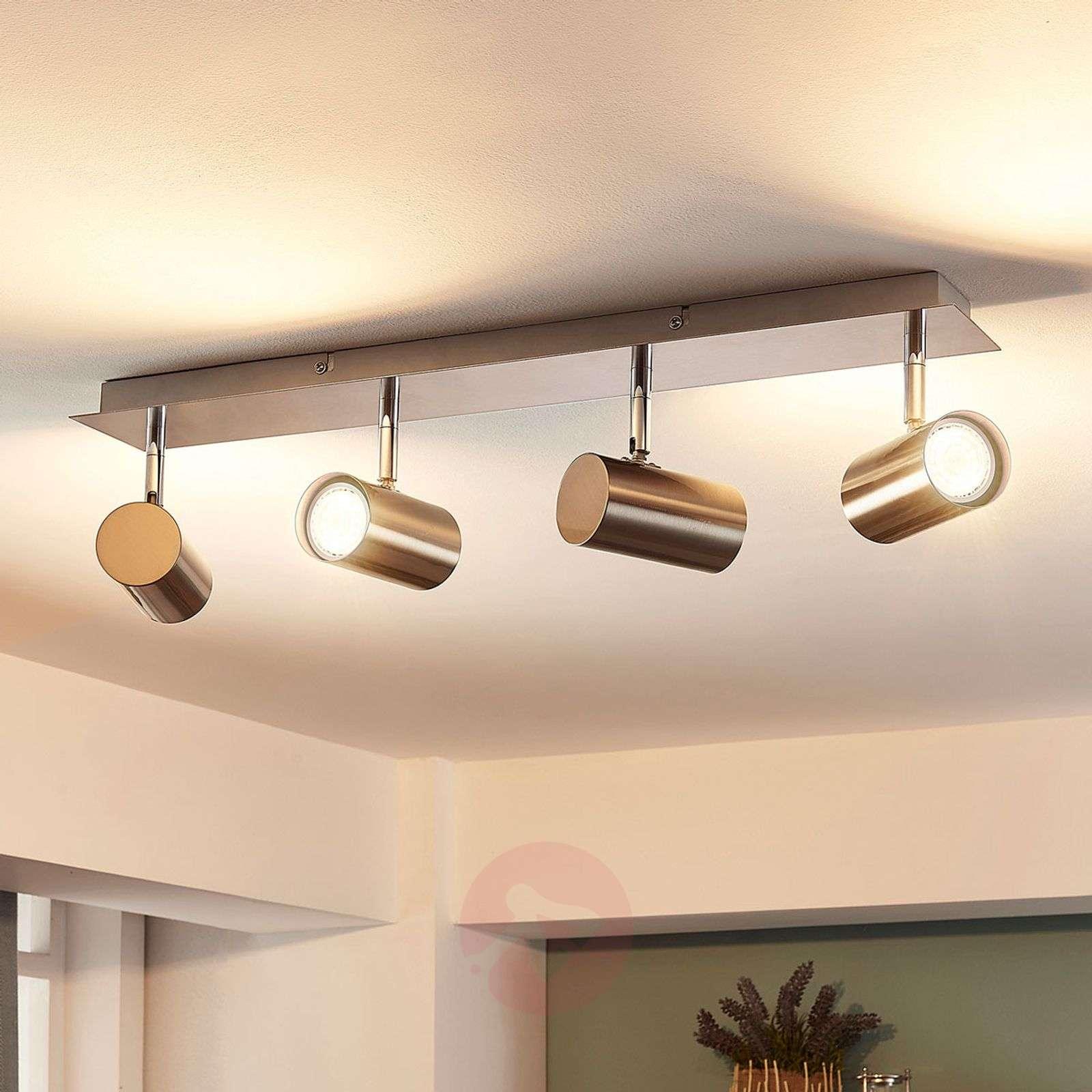 Iluk four bulb led ceiling lamp in nickel