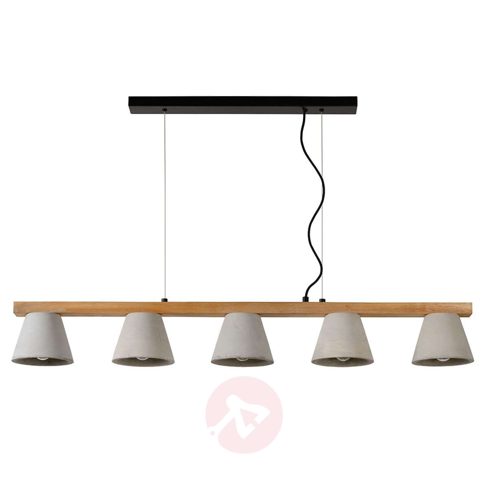 Impressive linear pendant lamp Possio, concrete-6055260-01