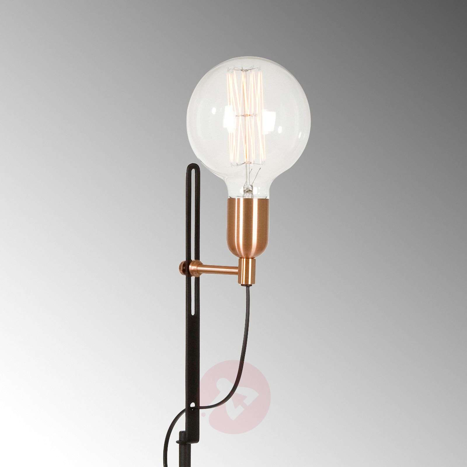 In Black And Copper Floor Lamp Regal Lightsie