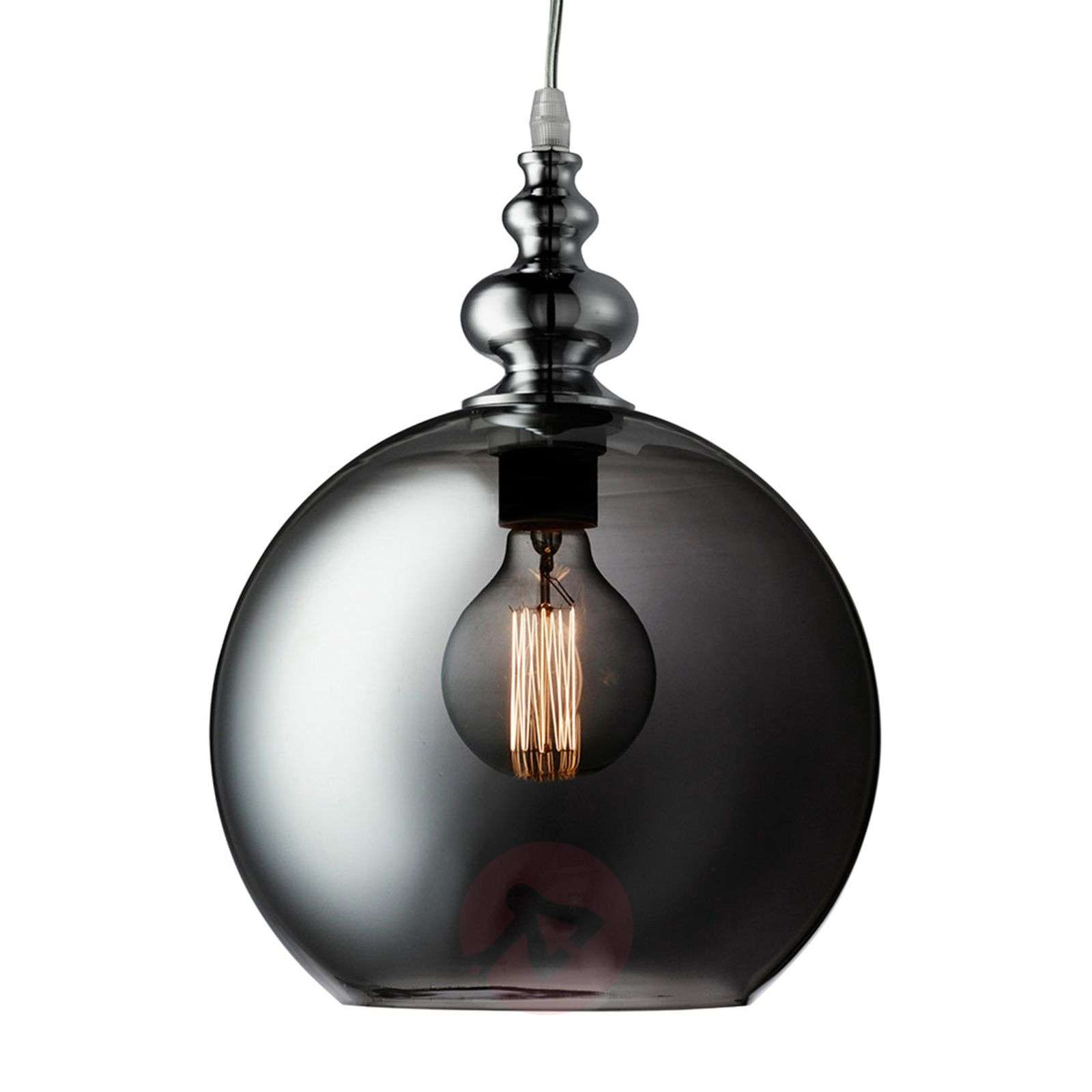 Indiana smoked glass pendant light-8570986-01