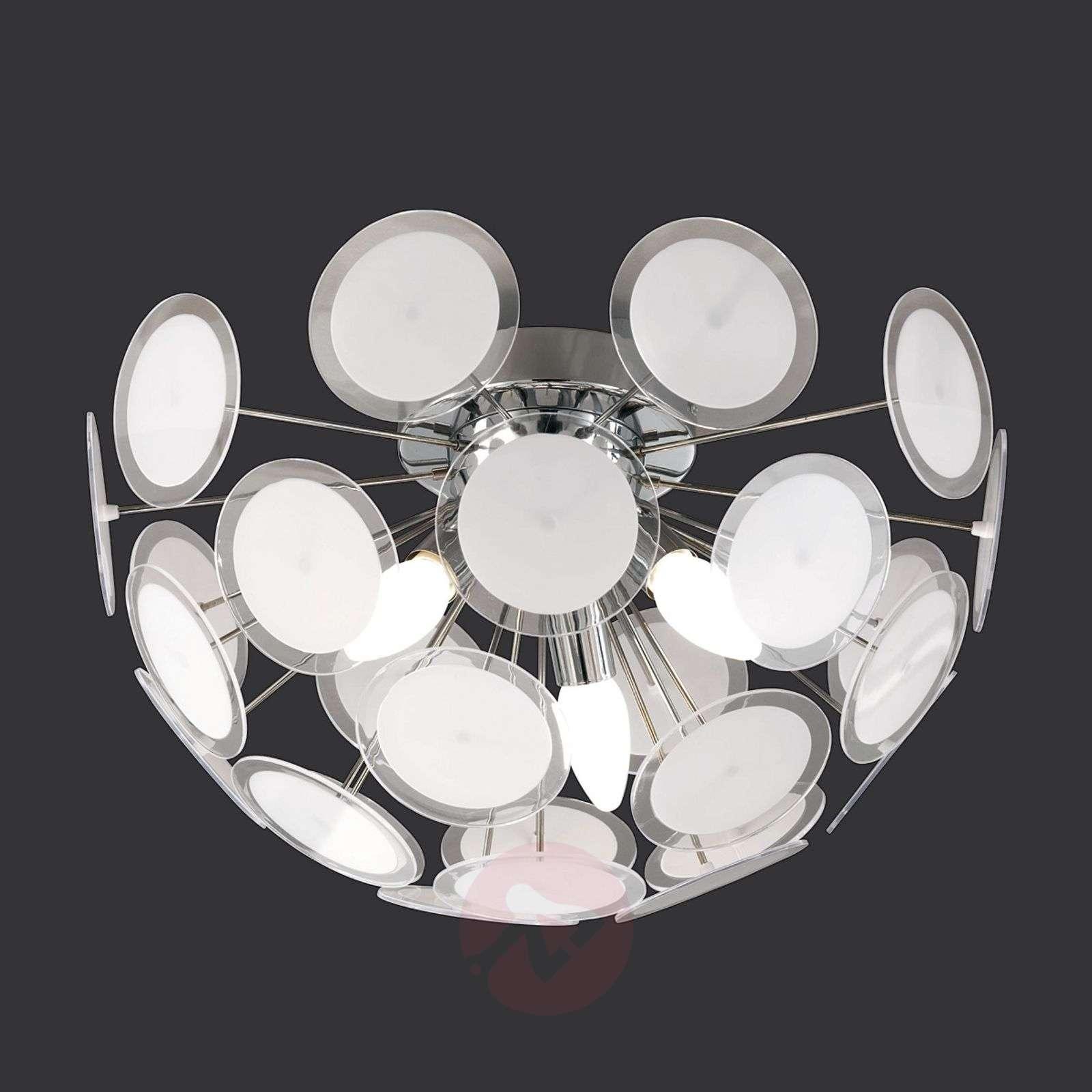 Individual ceiling light Circle, white/chrome-9004280-01