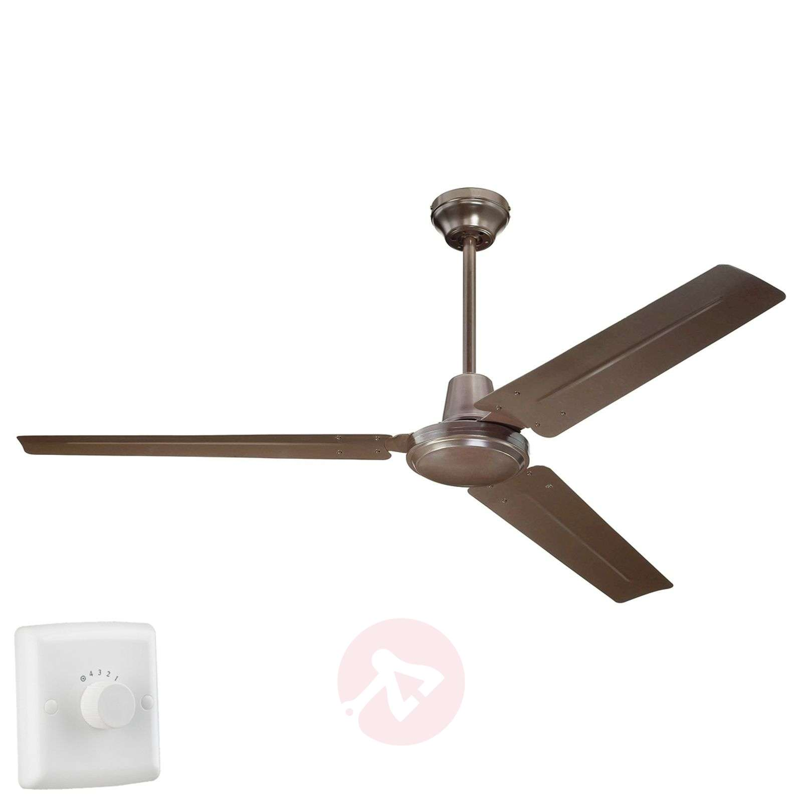 Industrial Espresso ceiling fan with four settings-9602243-01