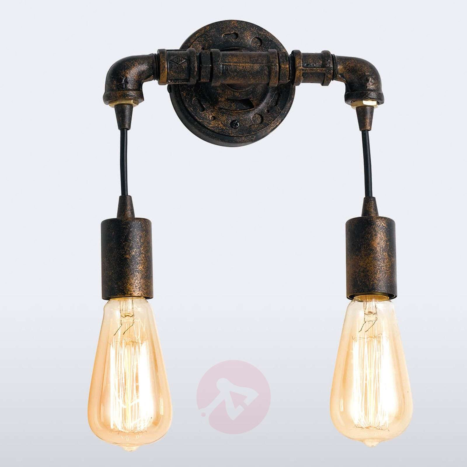 Industrial wall light Amarcord with rust surface-3006654-01