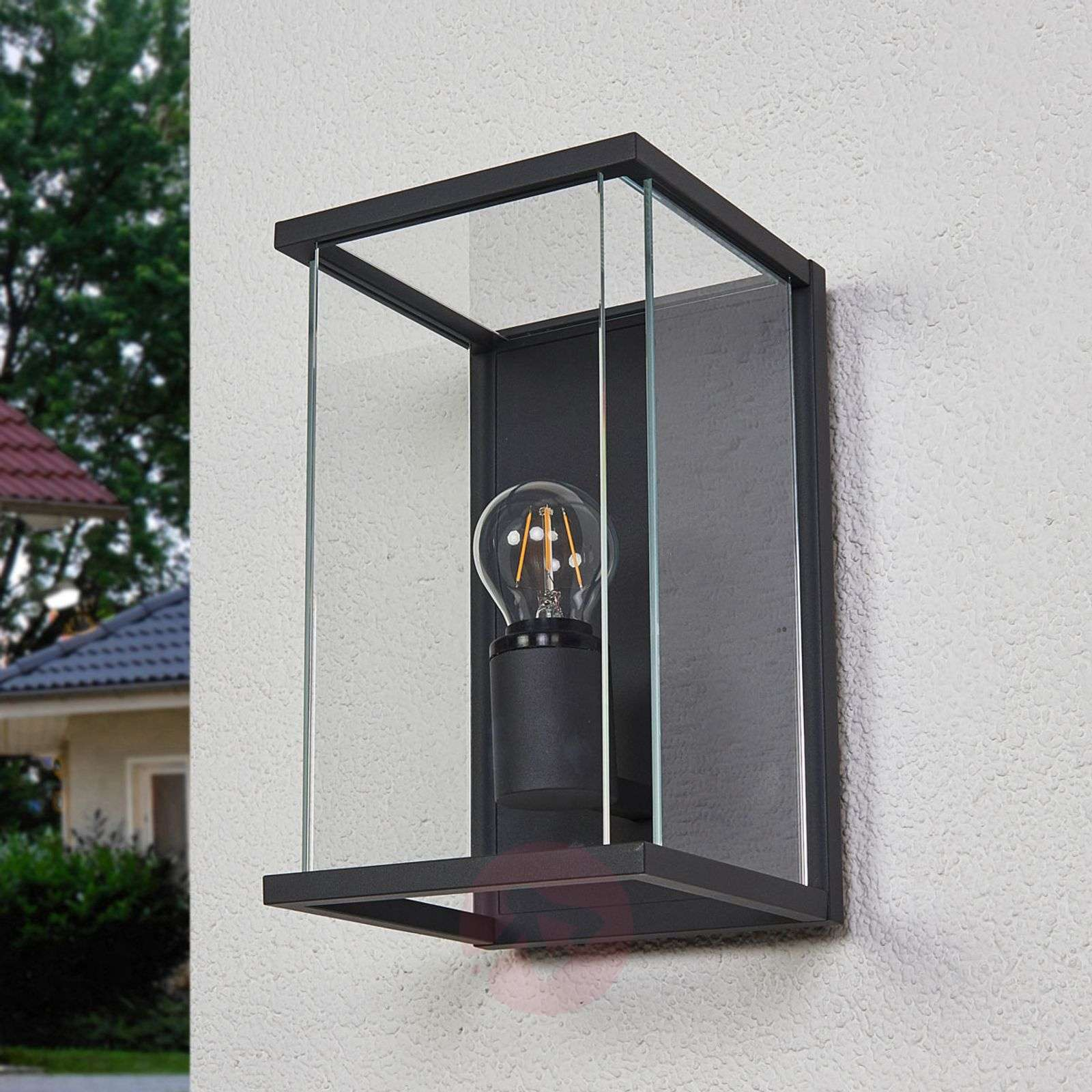 IP54 outdoor wall light Annalea, glass lampshade-9616099-02
