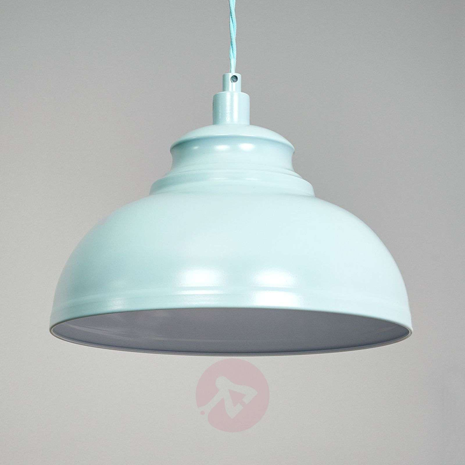 Isla a hanging light in a soft blue colour-6054992-01