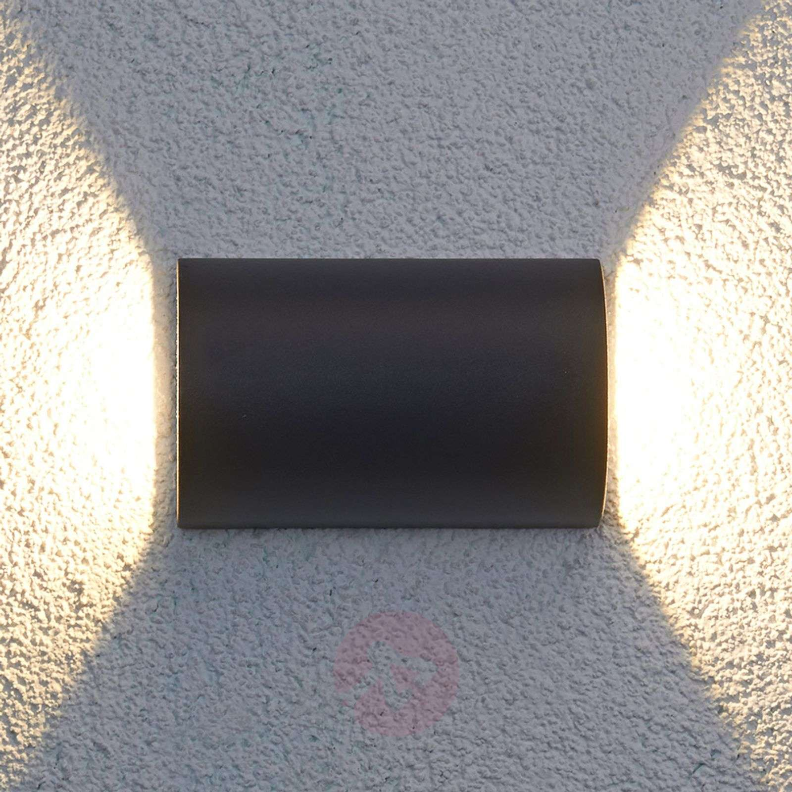 Jale semicircle LED outdoor light, 2 x 6 W-9618016-01