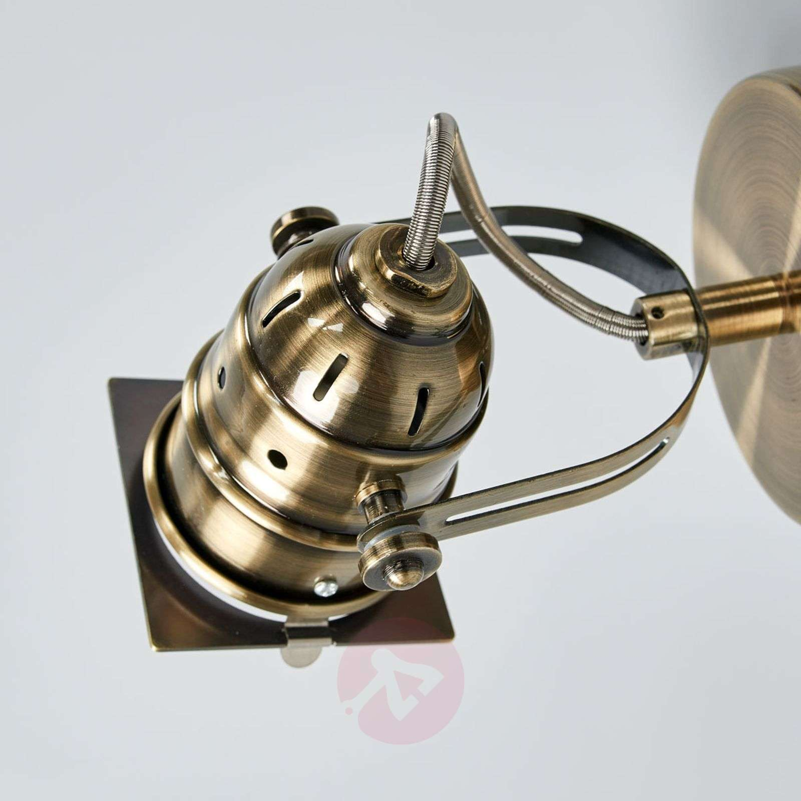 Janek LED spotlight in antique brass, GU10-9639077-08