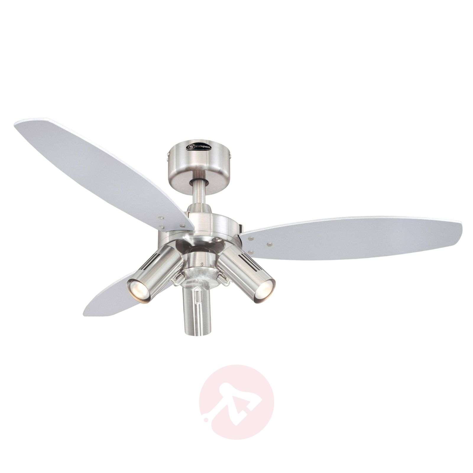 Jet Plus ceiling fan, remote control, three bulbs-9602230-02