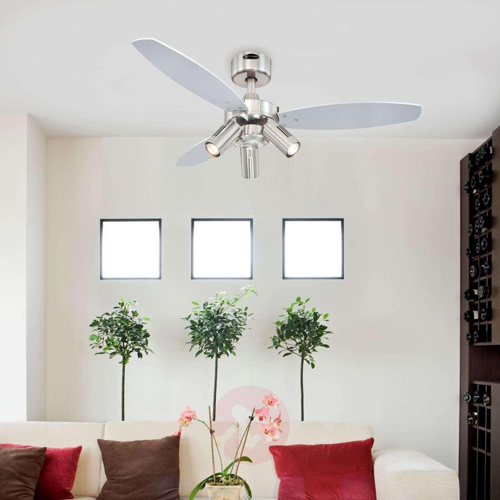 Jet Plus ceiling fan, remote control, three bulbs-9602230-02