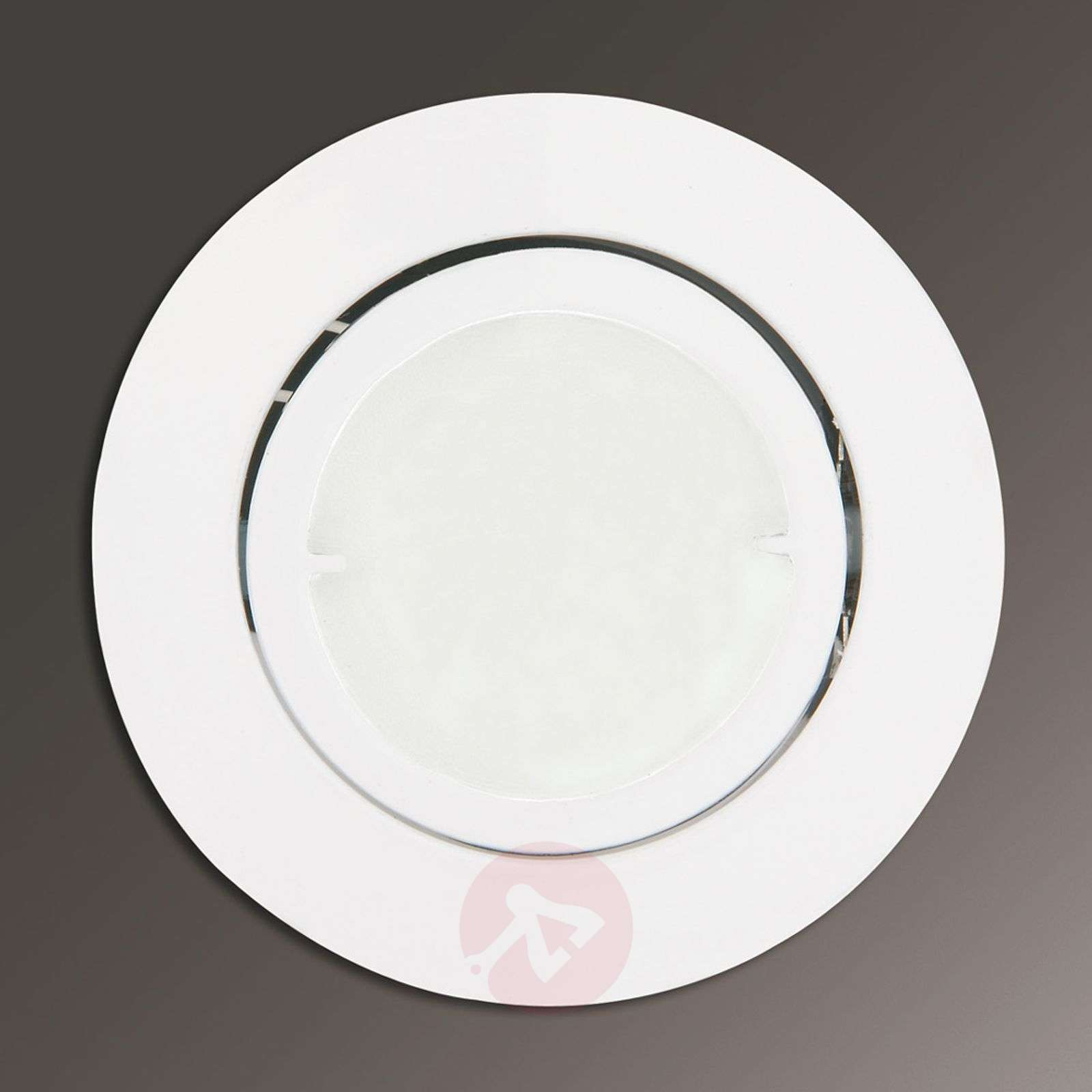 Joanie LED recessed light in white, round_1524121_1