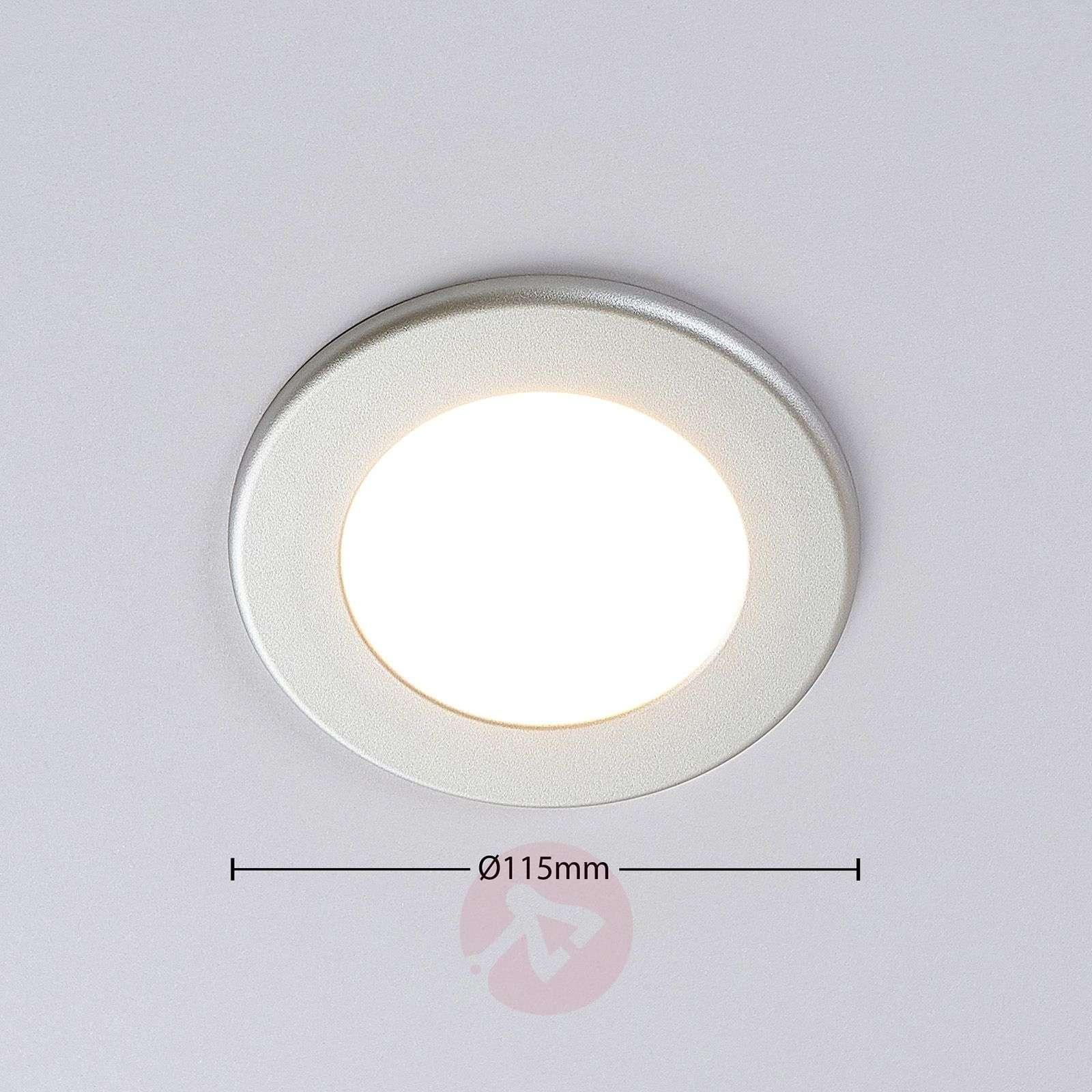 Joki LED downlight silver 3,000K round 11.5cm-9978045-02