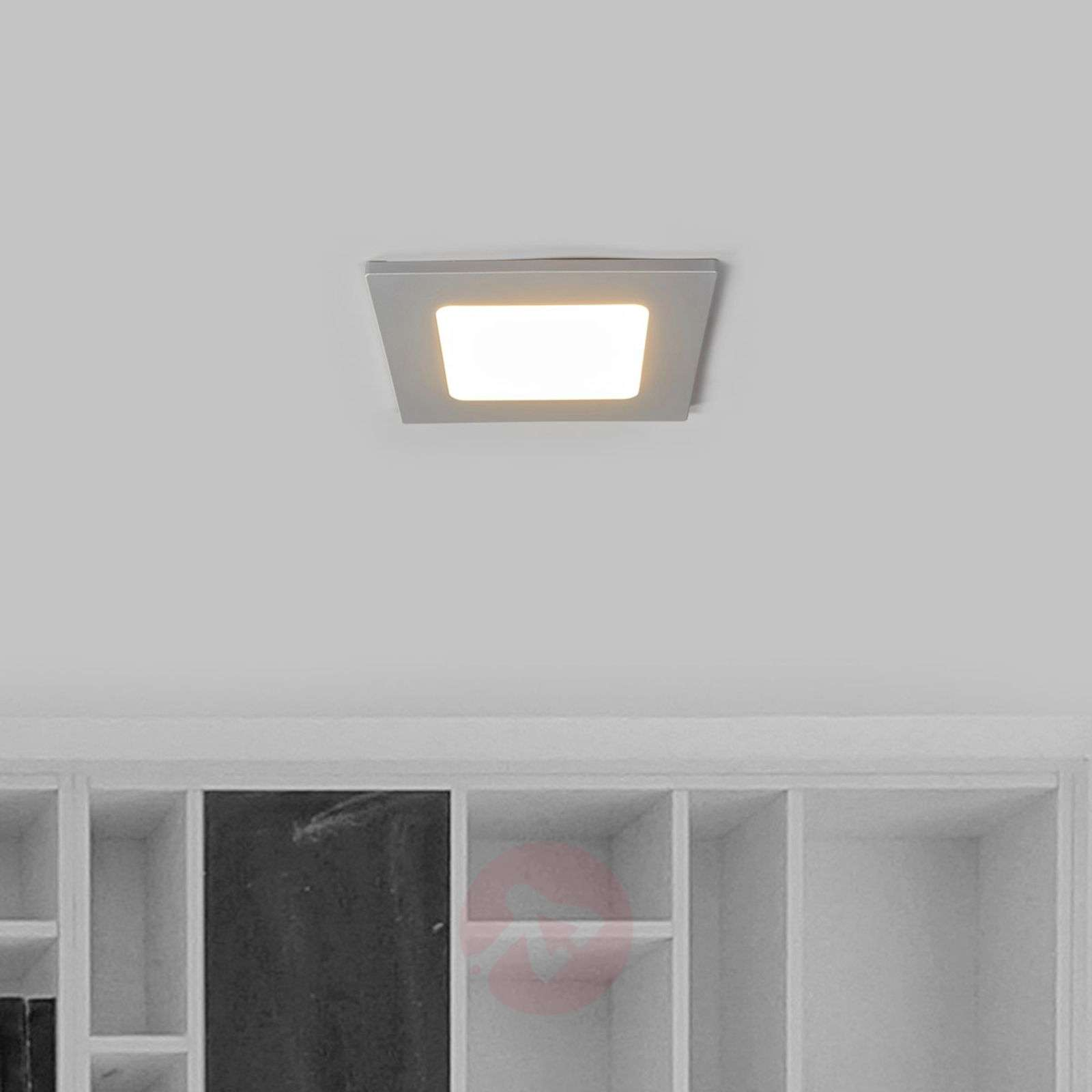 joki square led recessed light in silver lights ie