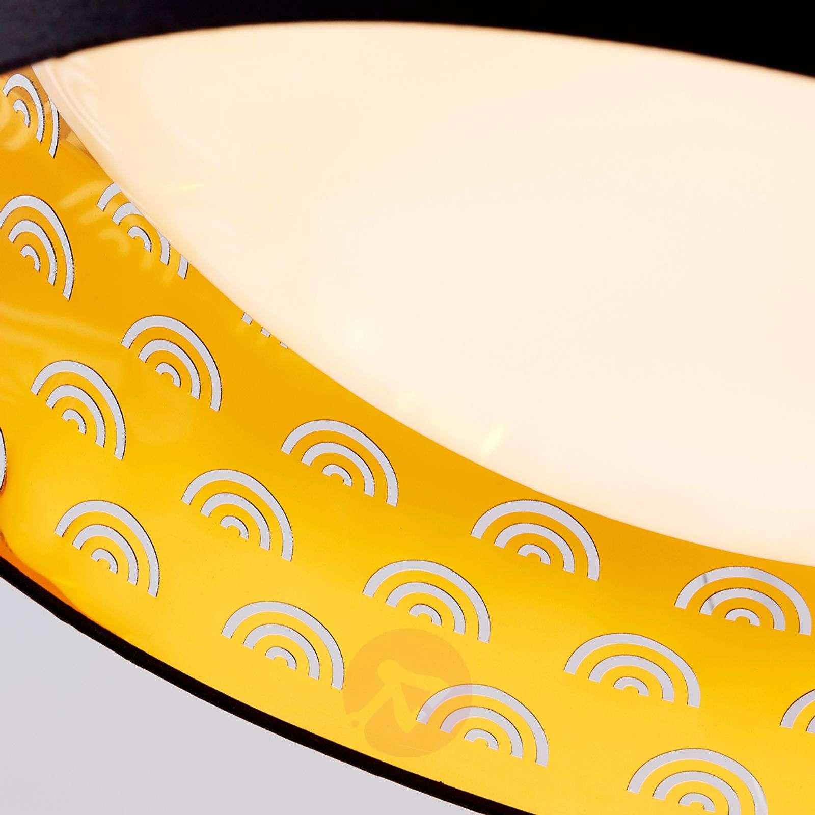 Jorunn fabric LED ceiling lamp, black and gold-9620942-02