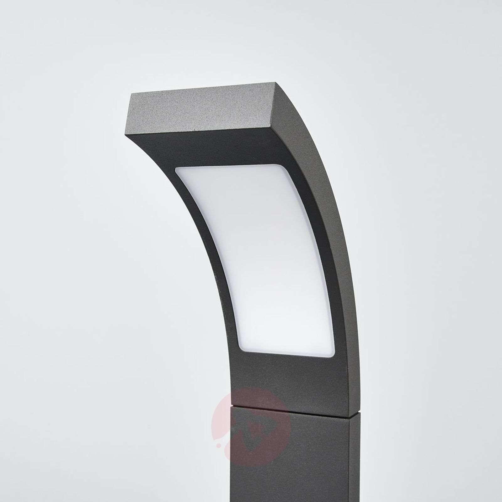 Juvia modern LED pillar light in graphite grey | Lights.ie for Modern Pillar Lights  156eri