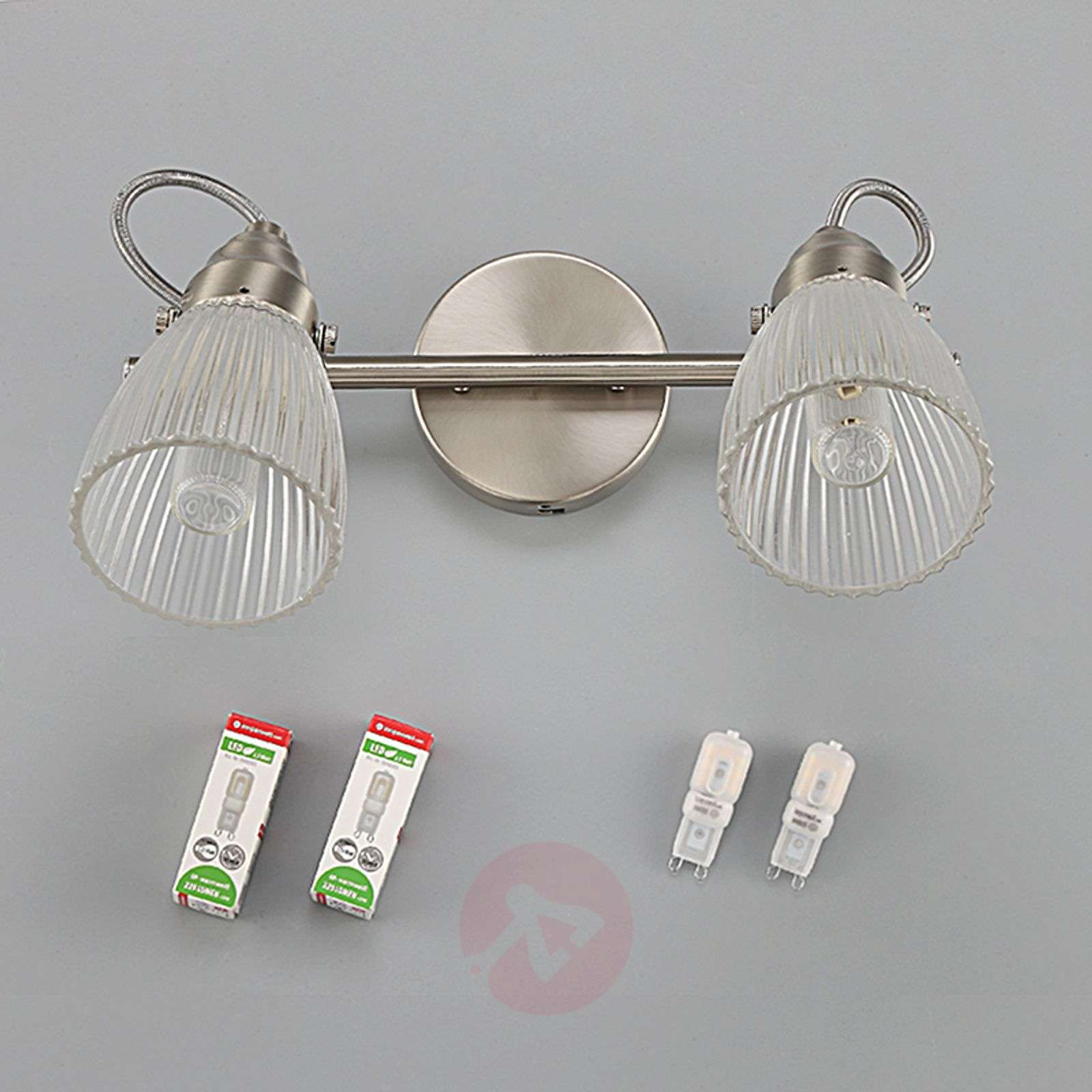 Kara bathroom wall lamp with fluted glass and LED-9620682-011