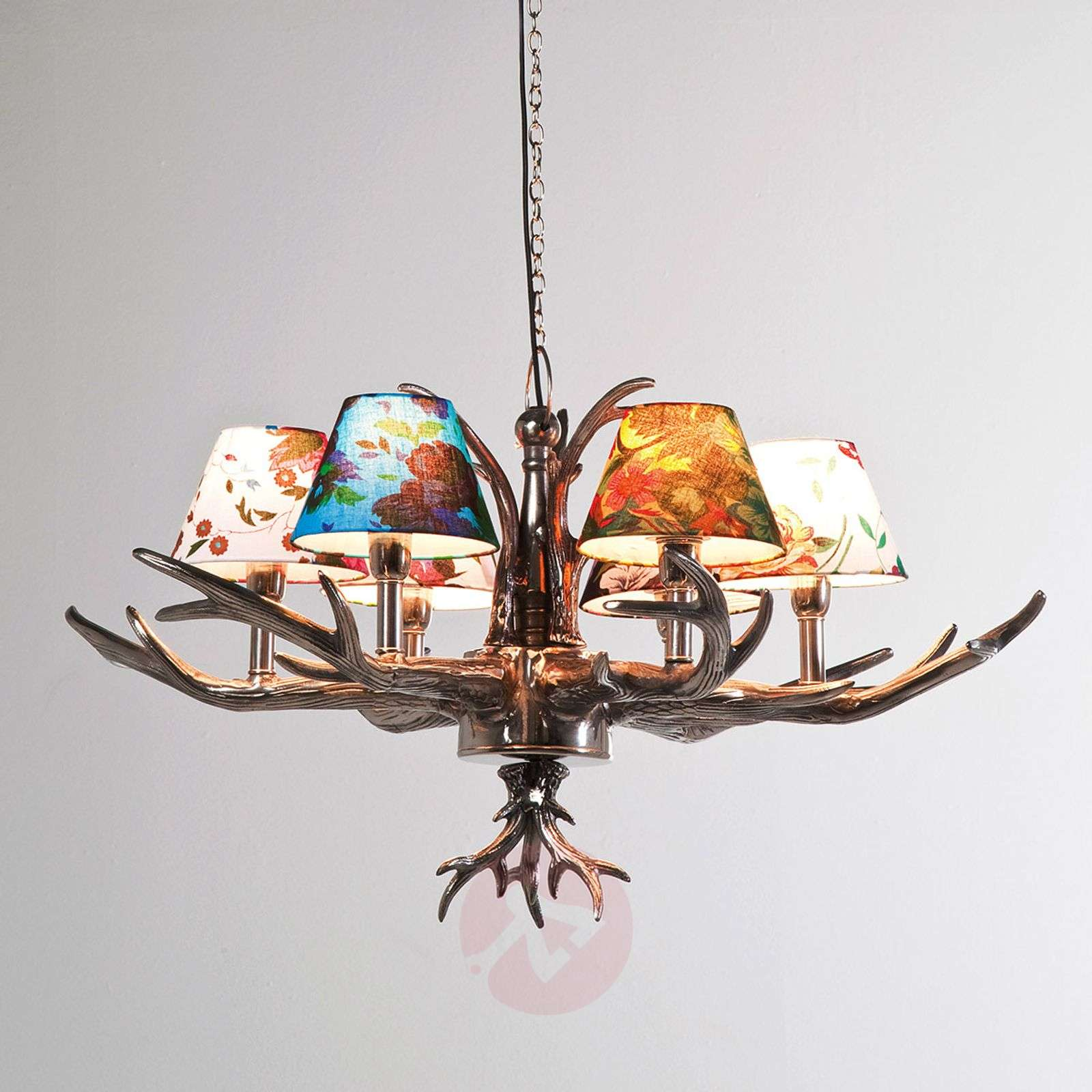 KARE Antler Flowers colourful hanging light-5517283-01