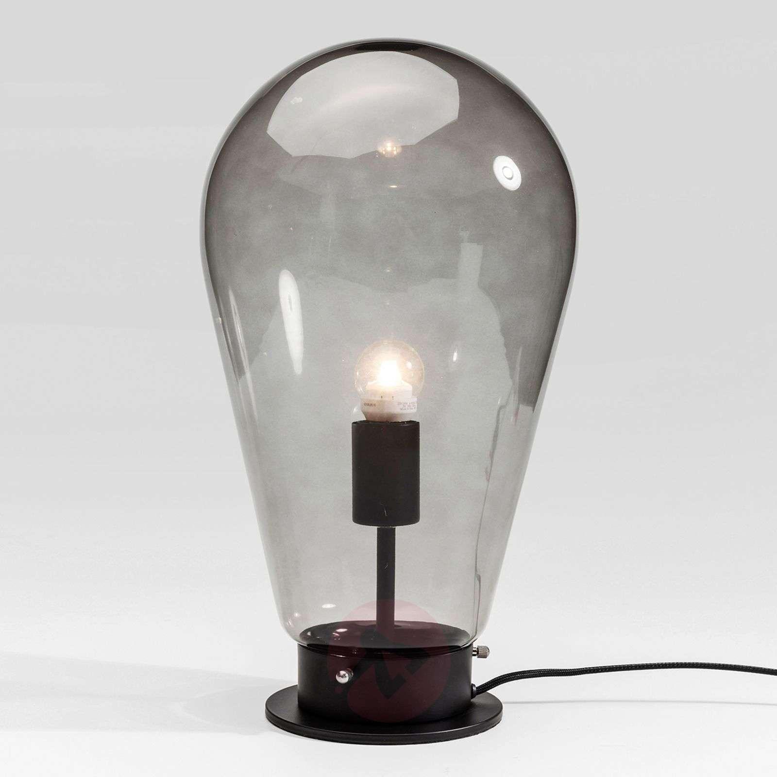 KARE Bulb grey glass table lamp-5517511-01
