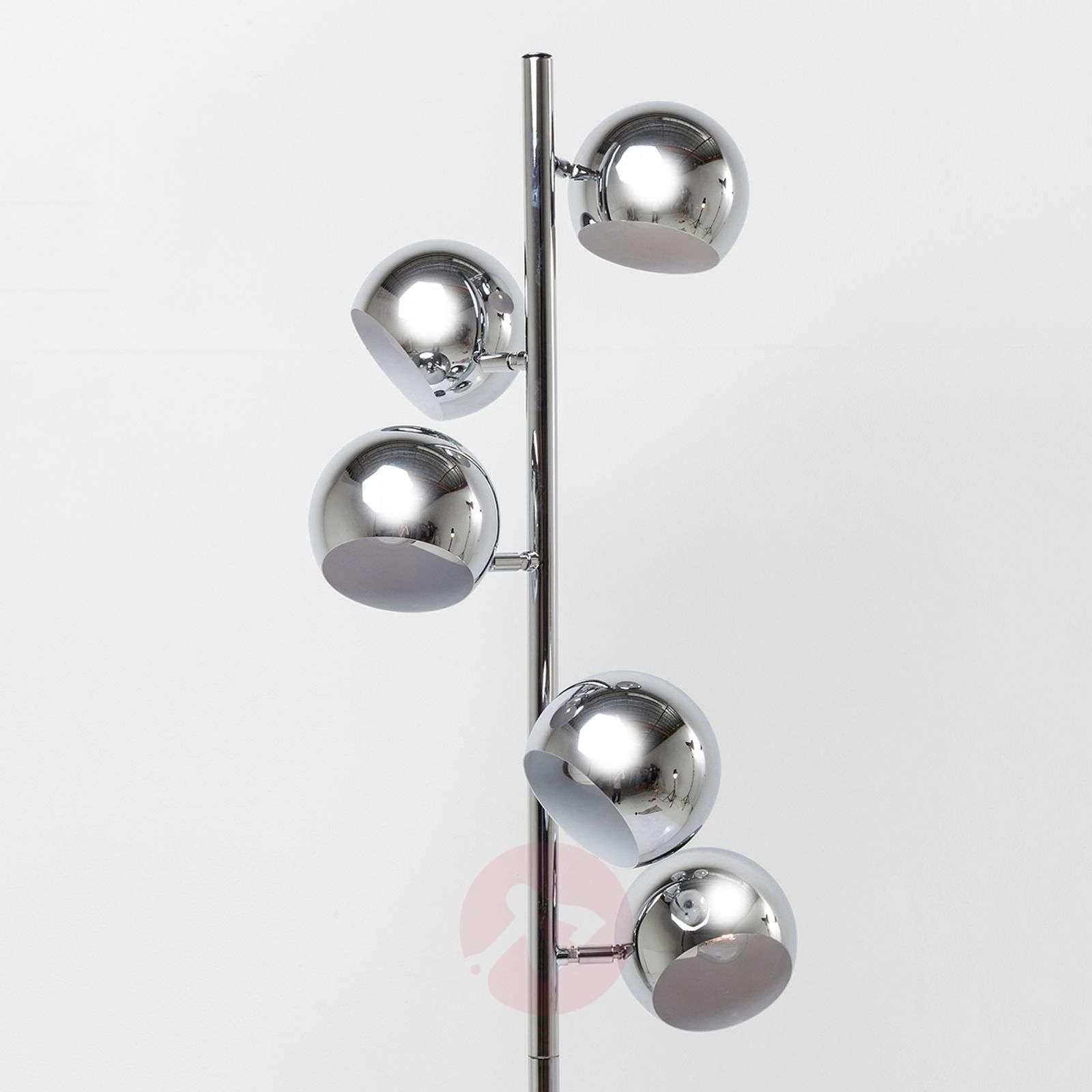KARE Calotta glossy chrome floor lamp-5517471-01