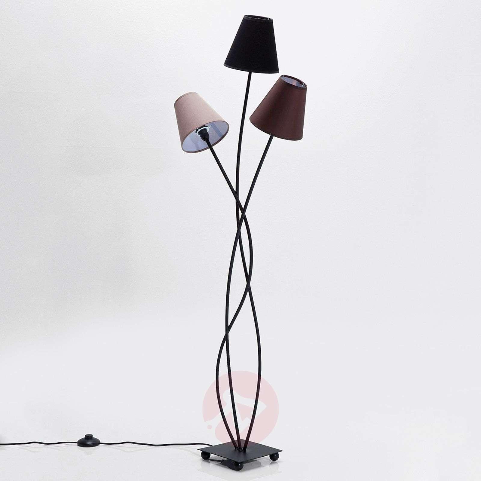KARE Flexible Mocca Tre three-bulb floor lamp-5517367-01