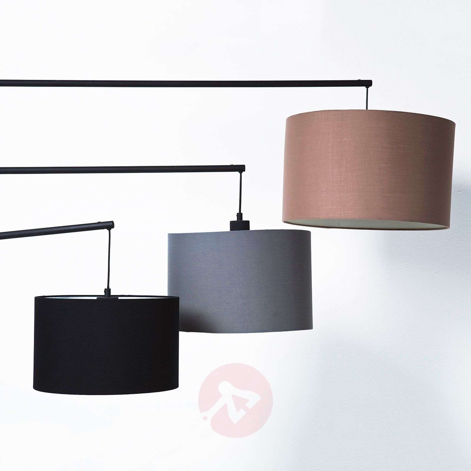 KARE Lemming Tree three-bulb fabric floor lamp-5517466-01