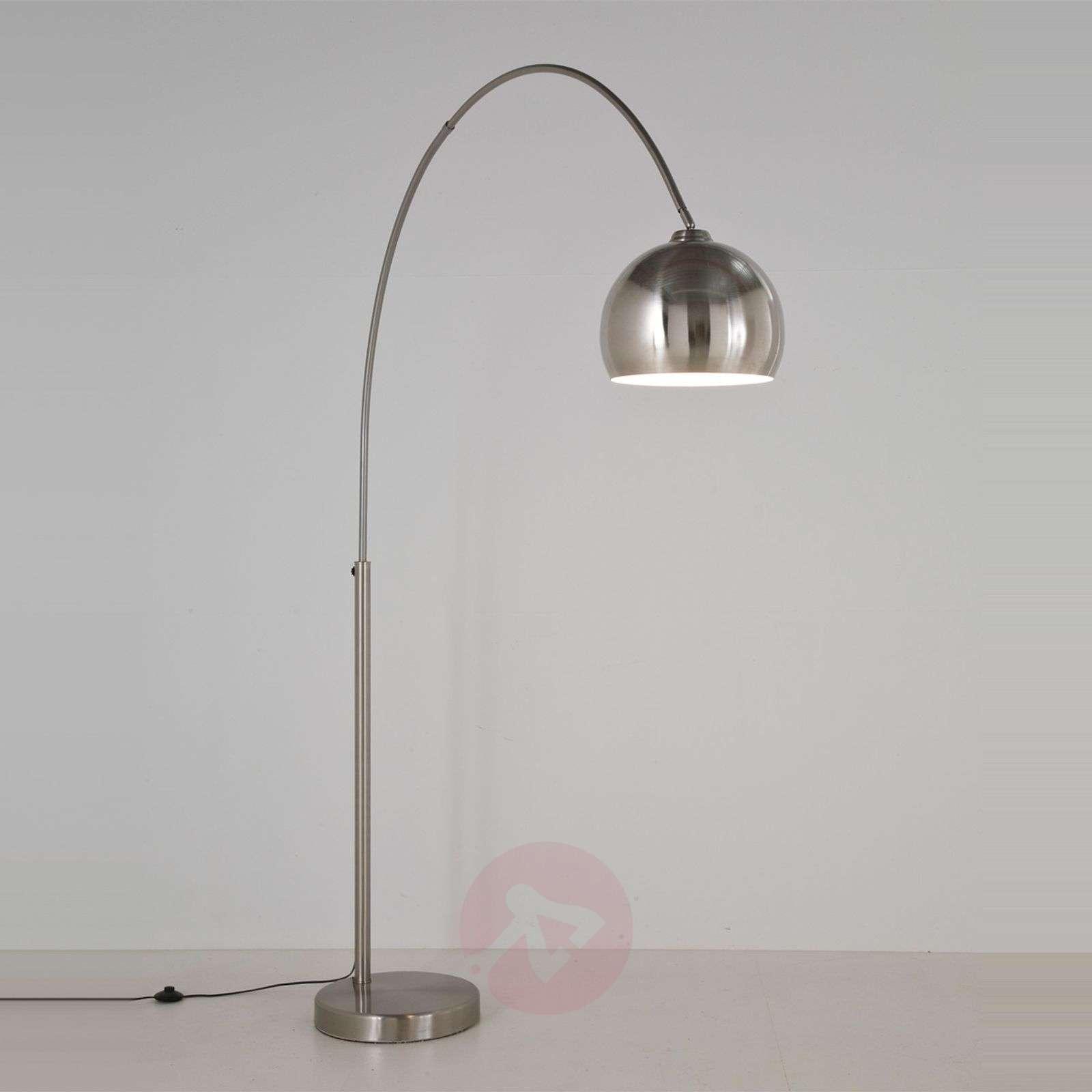 KARE Lounge satinised arc floor lamp-5517138-01