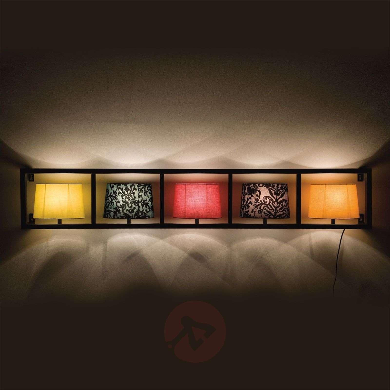 Kare Parechhi wall light, fabric shades, black-5517007-01