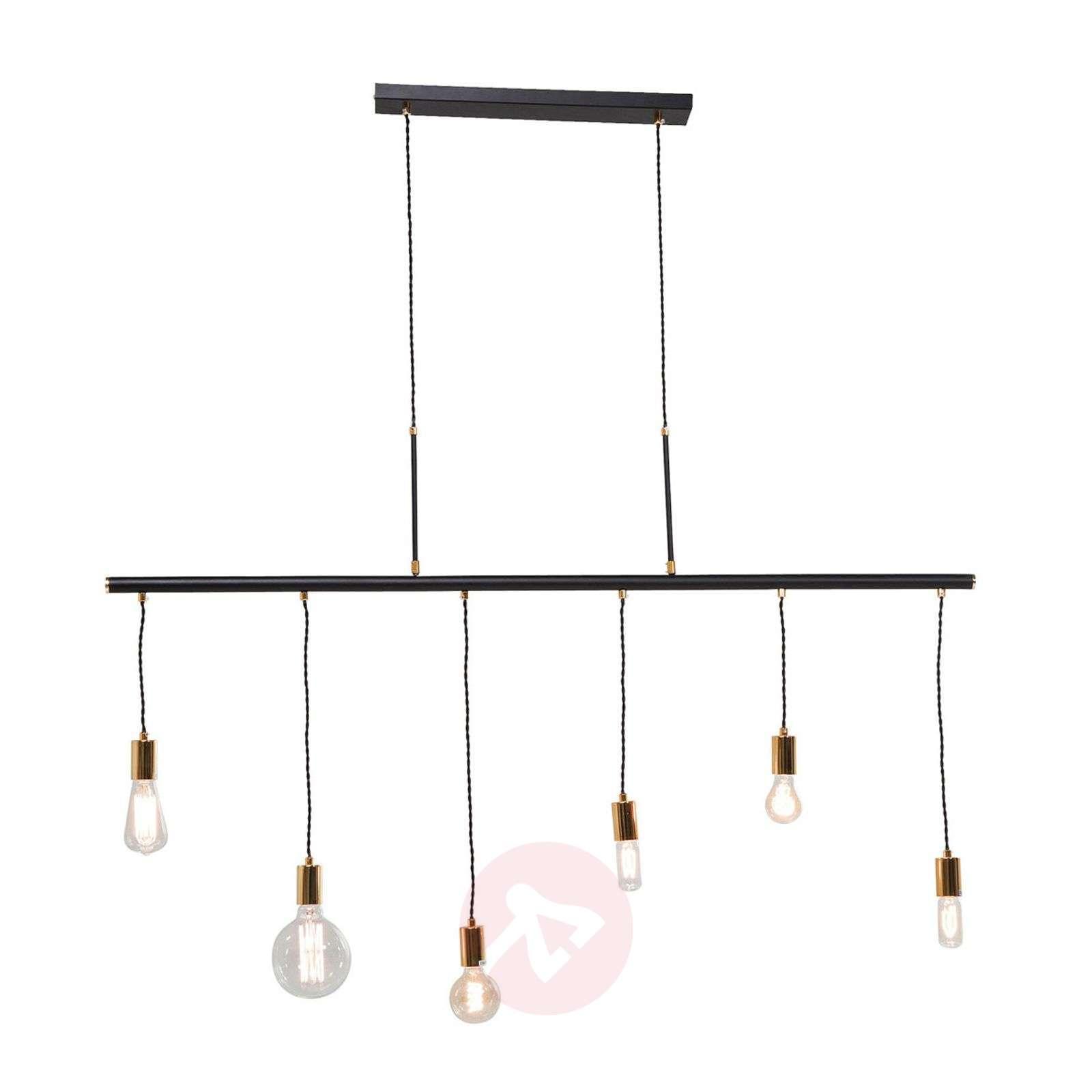 KARE Pole Six black hanging light-5517408-01