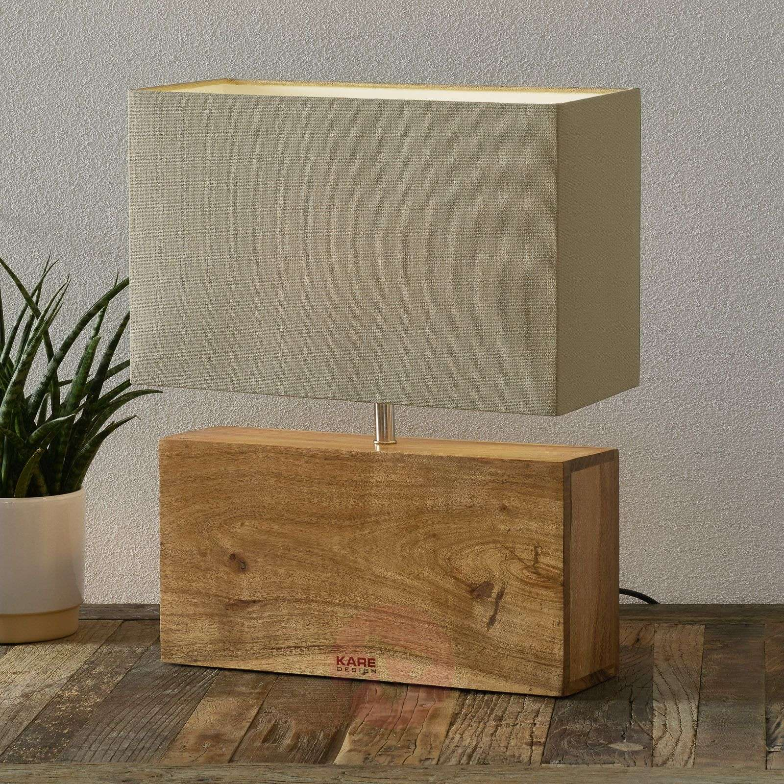 KARE Rectangular Wood wooden base table lamp-5517187-01