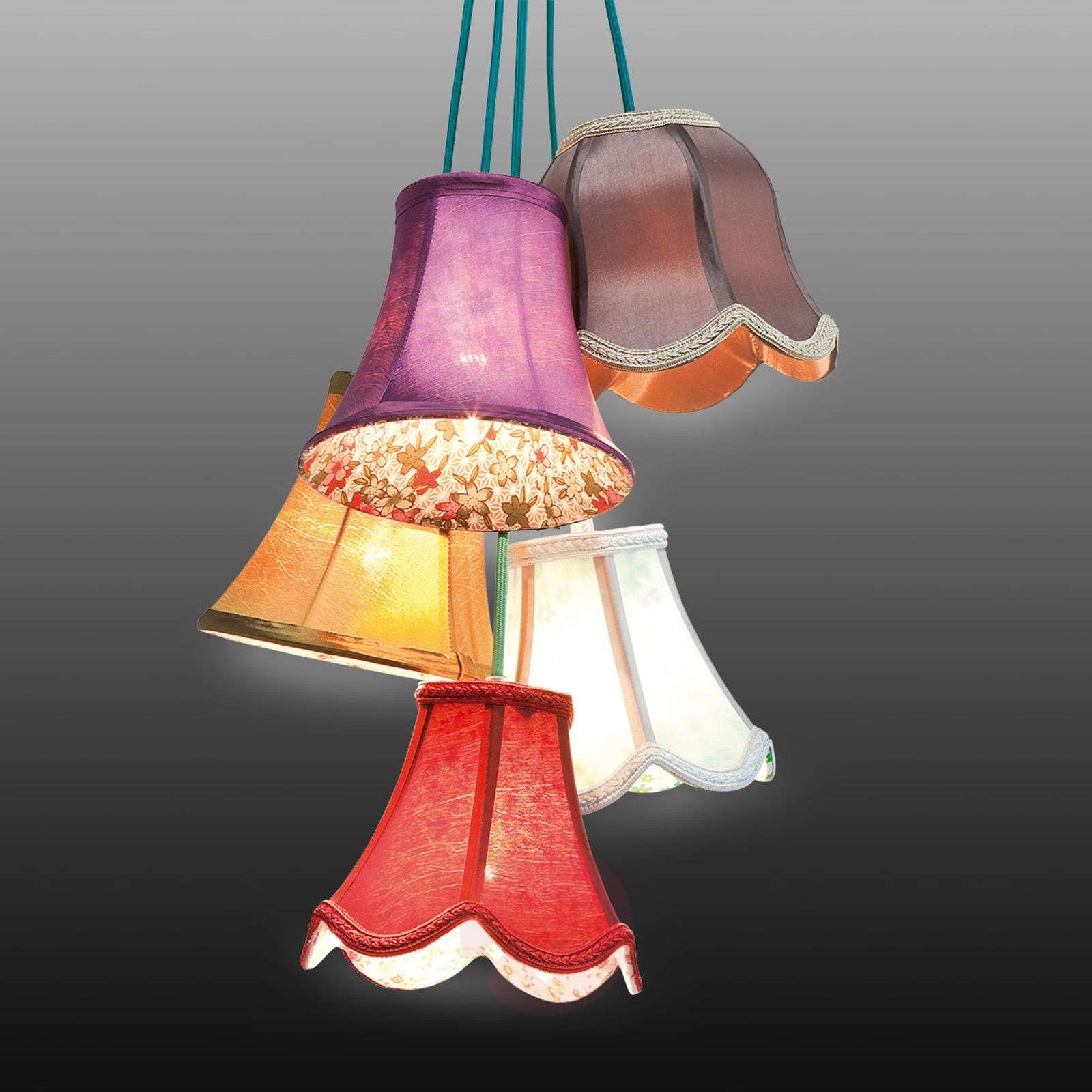 KARE Saloon Flowers 5 hanging light-5517305-01