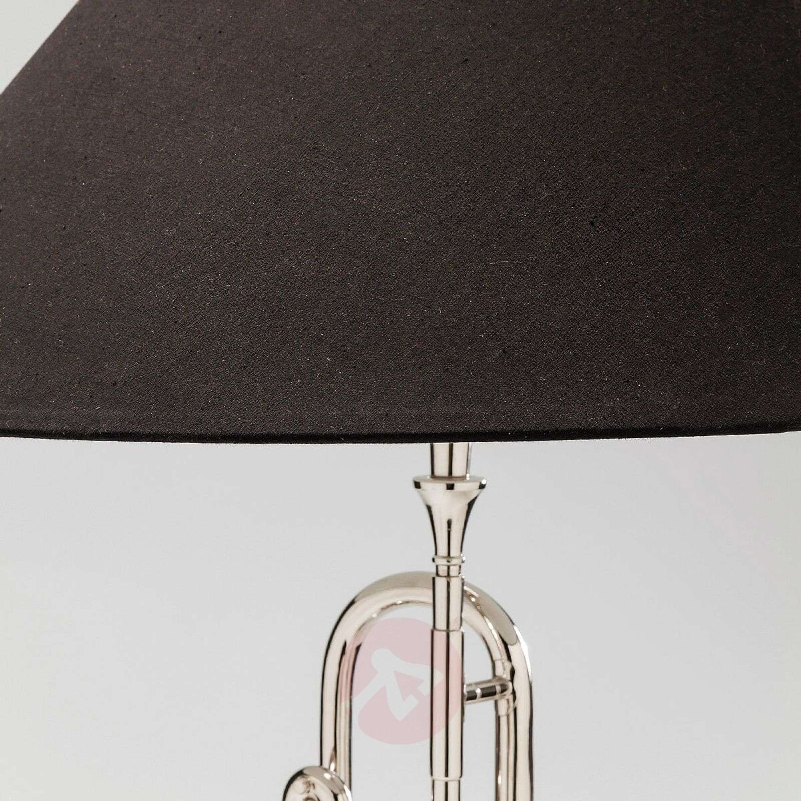KARE Trumpet Jazz fabric table lamp in silver-5517521-01