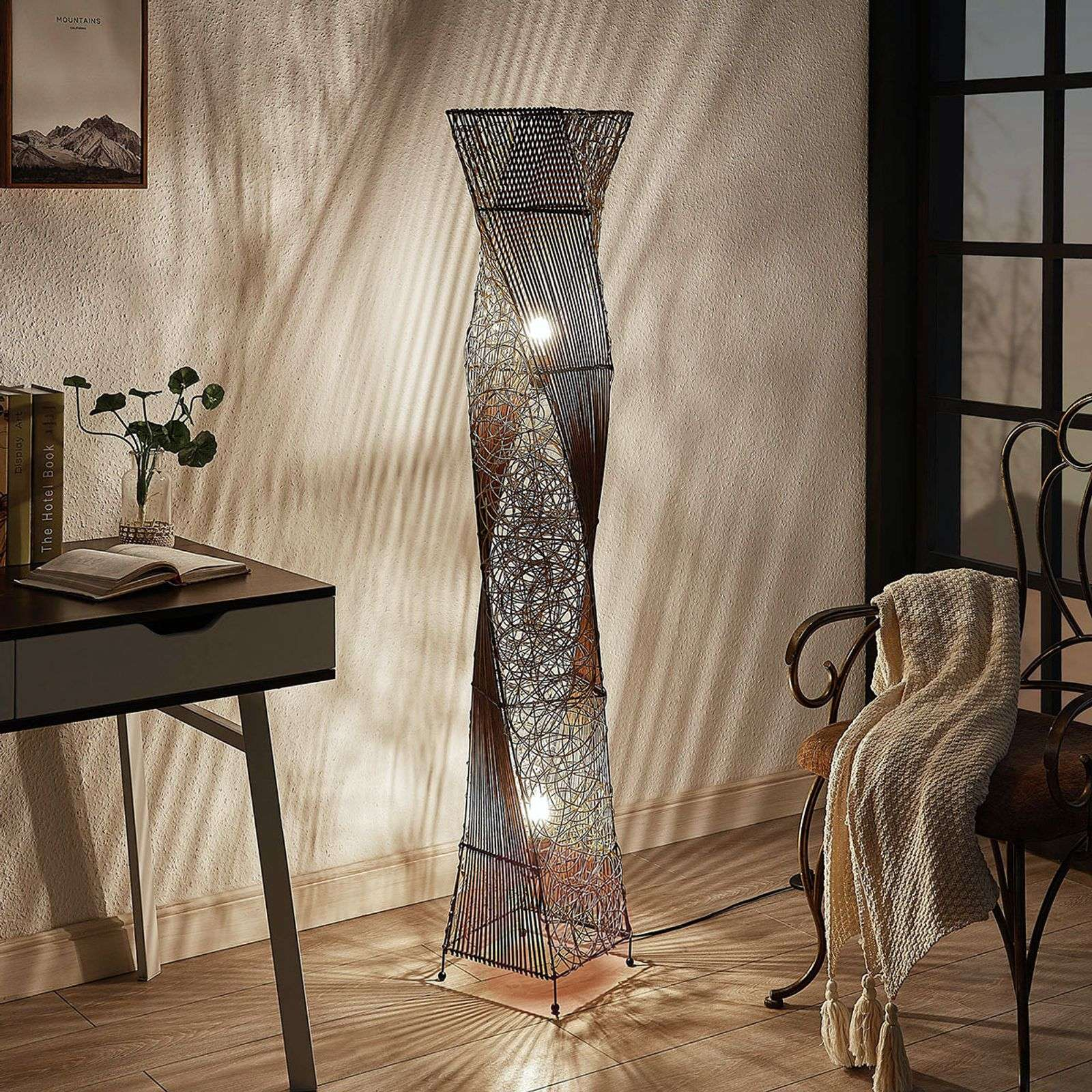 Kassia Rattan Floor Lamp For A Cosy Light Lights Ie
