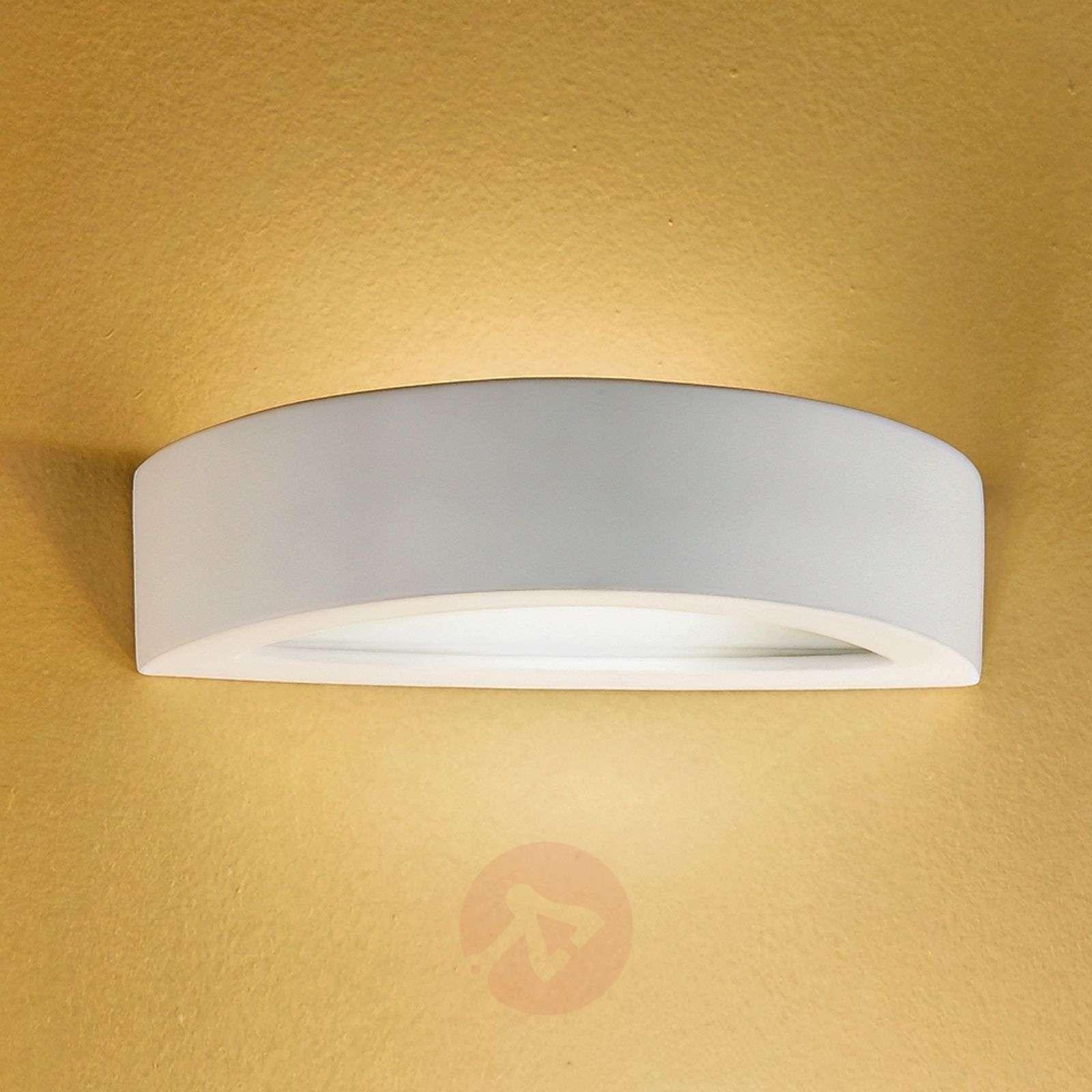 Kera Wall Light Semi-Circular Flat Ceramic-7253012-01