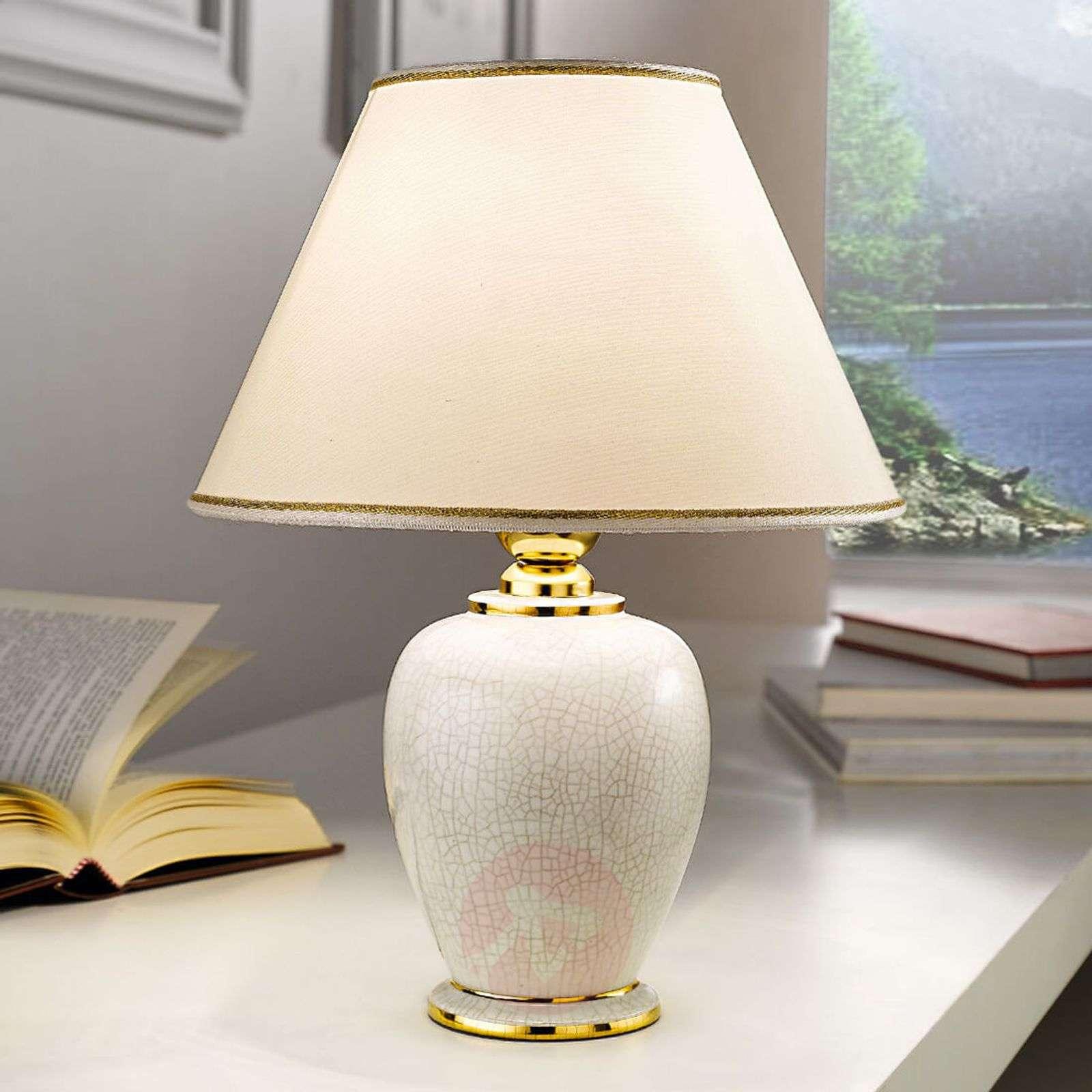 KOLARZ Giardino Craclee white table lamp 30cm-5506933-01