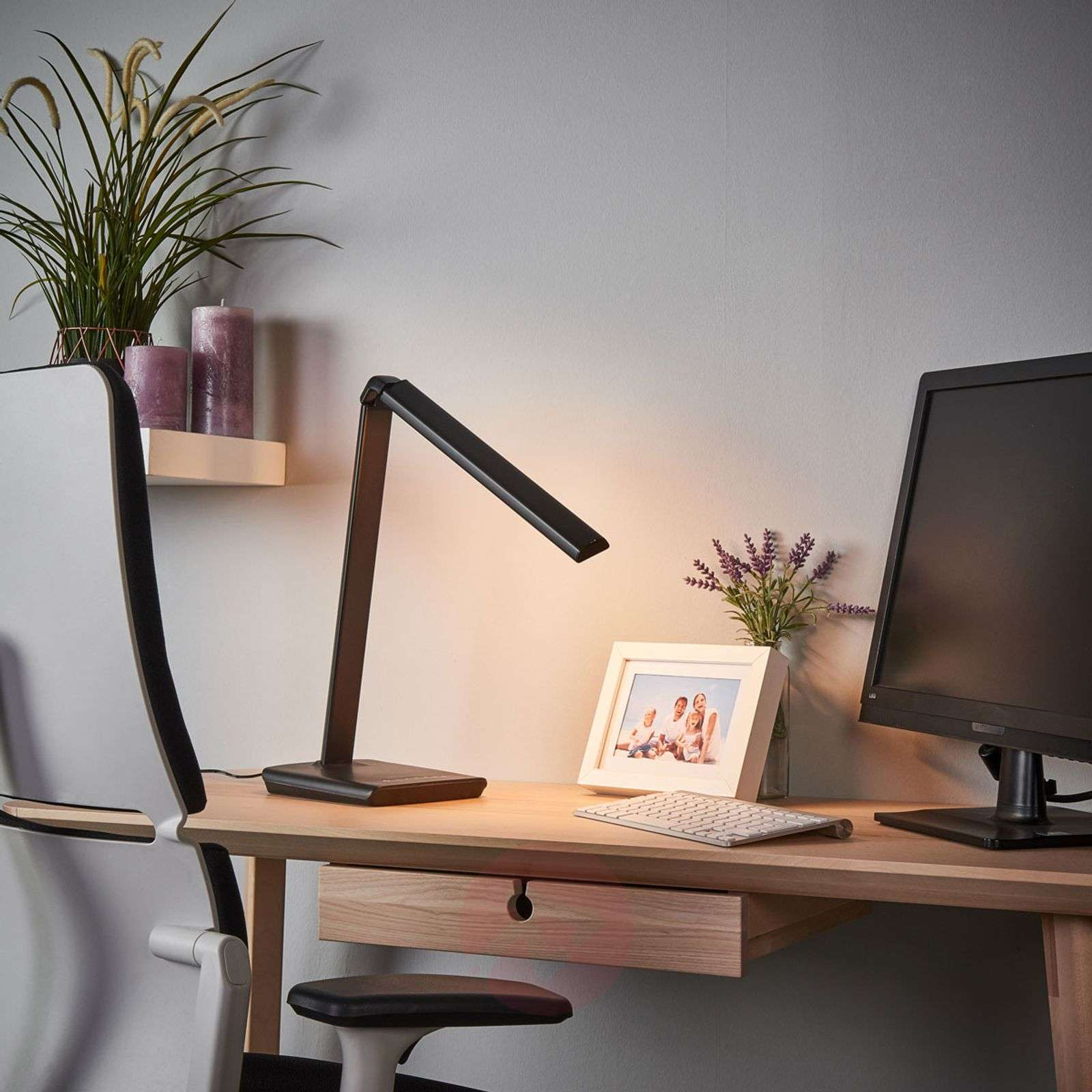 Kuno LED desk lamp with USB port-9643035-02