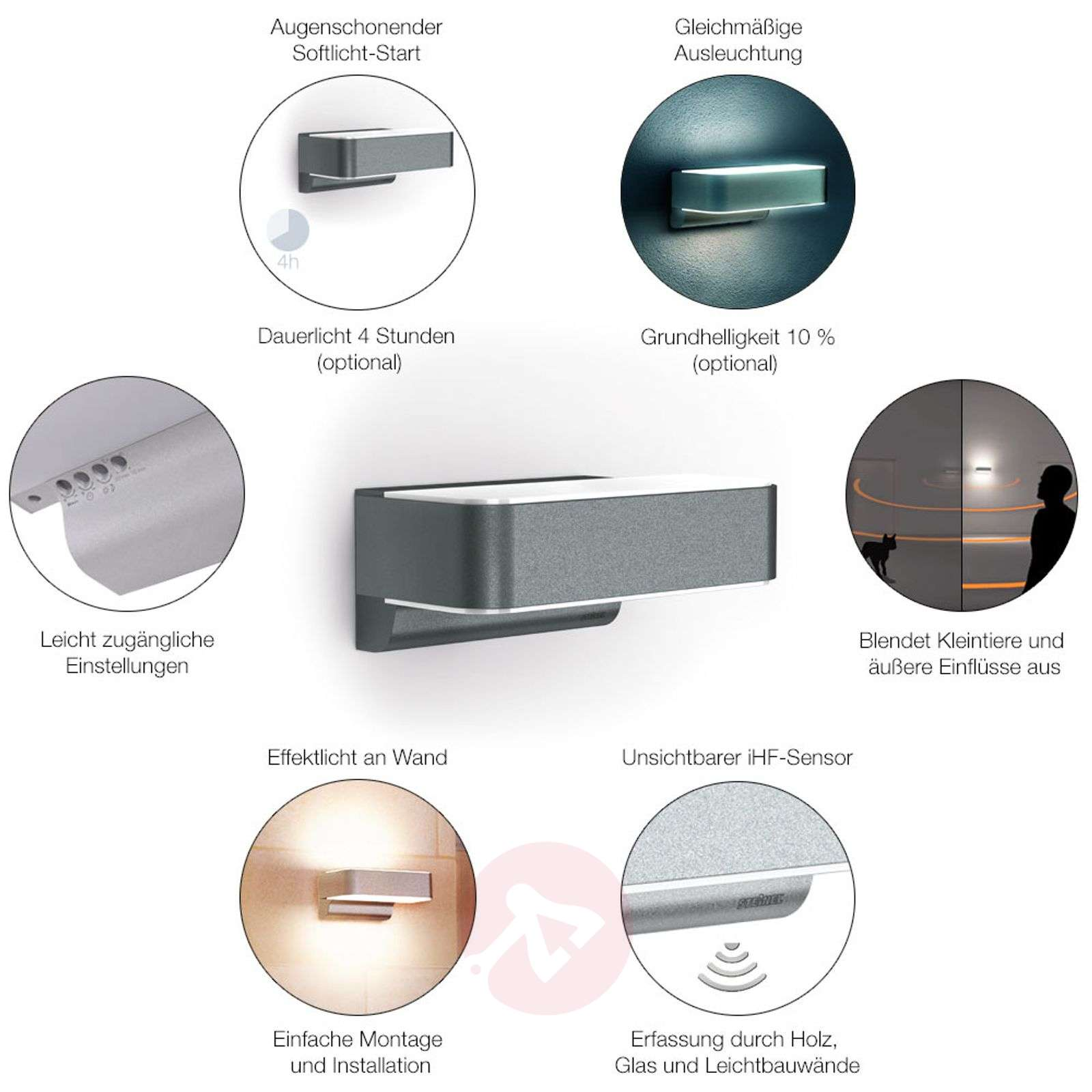 L 810 LED iHF intelligent outdoor wall light-8505677-02